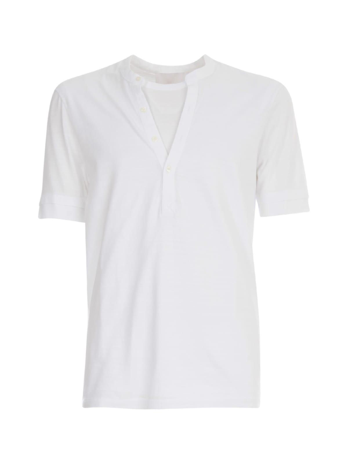 Neil Barrett Travel Hybrid Henley T-shirt