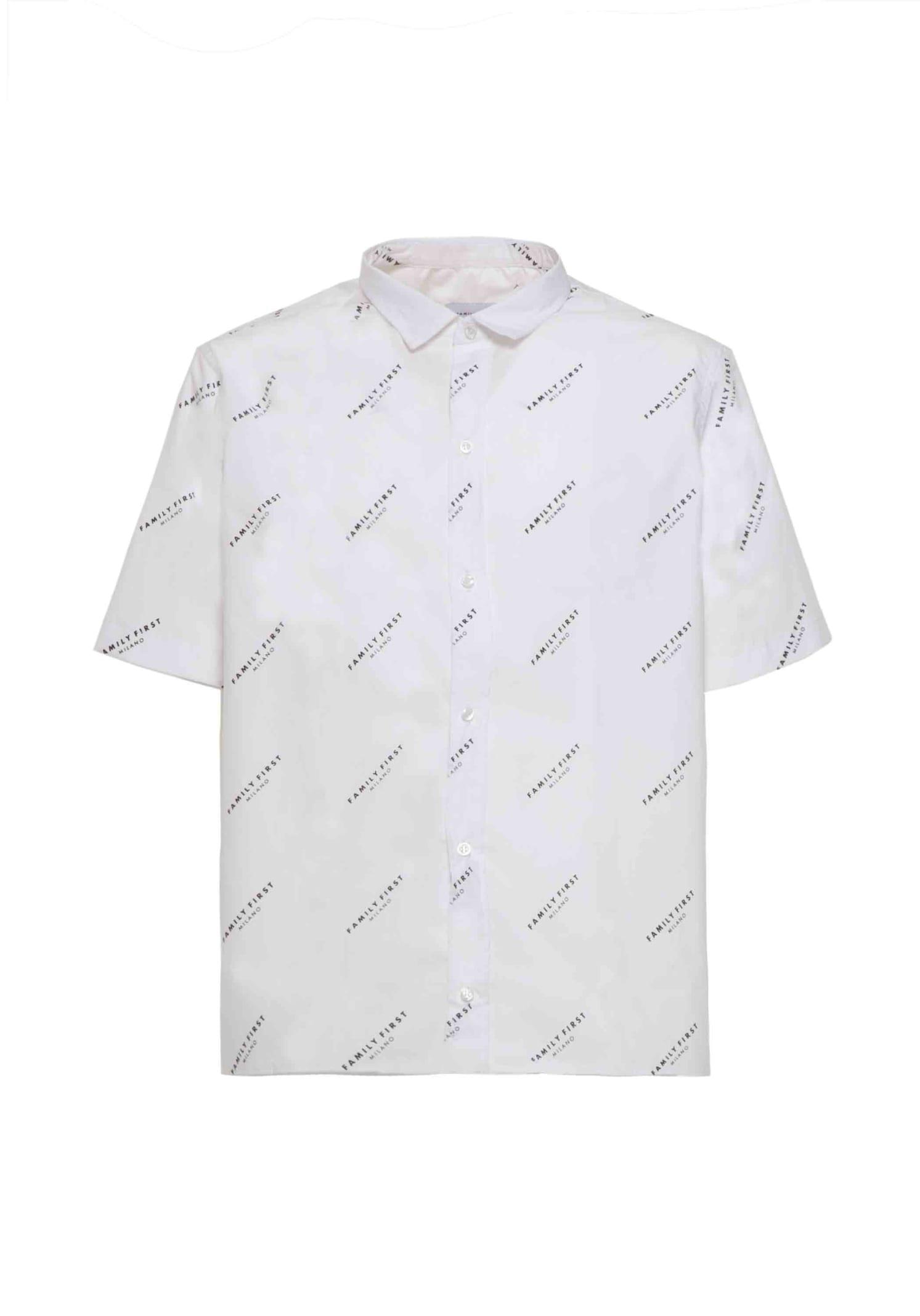 Shirt Pattern Logo White