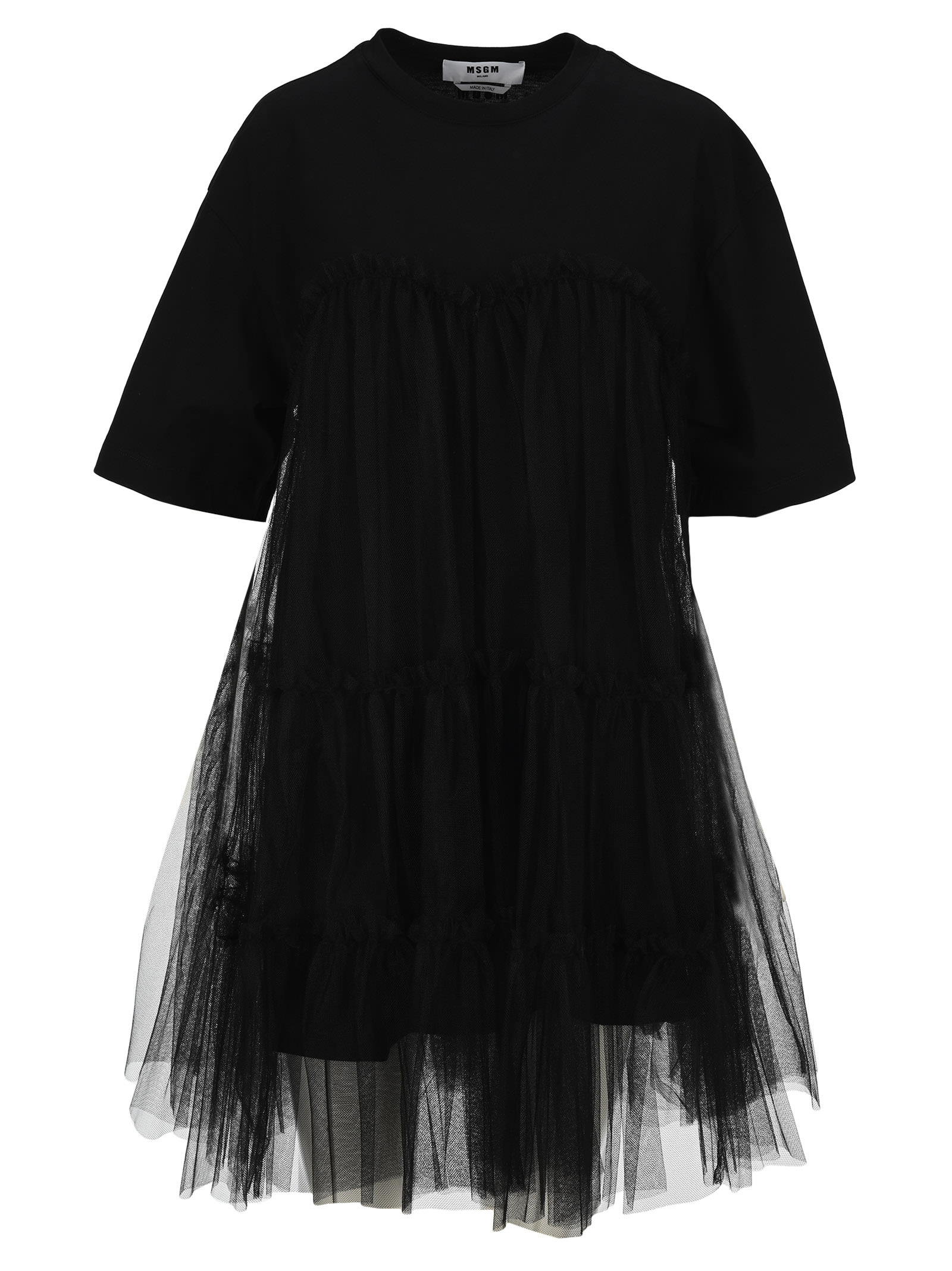 Buy MSGM Msgm Flared Tulle T-shirt Dress online, shop MSGM with free shipping