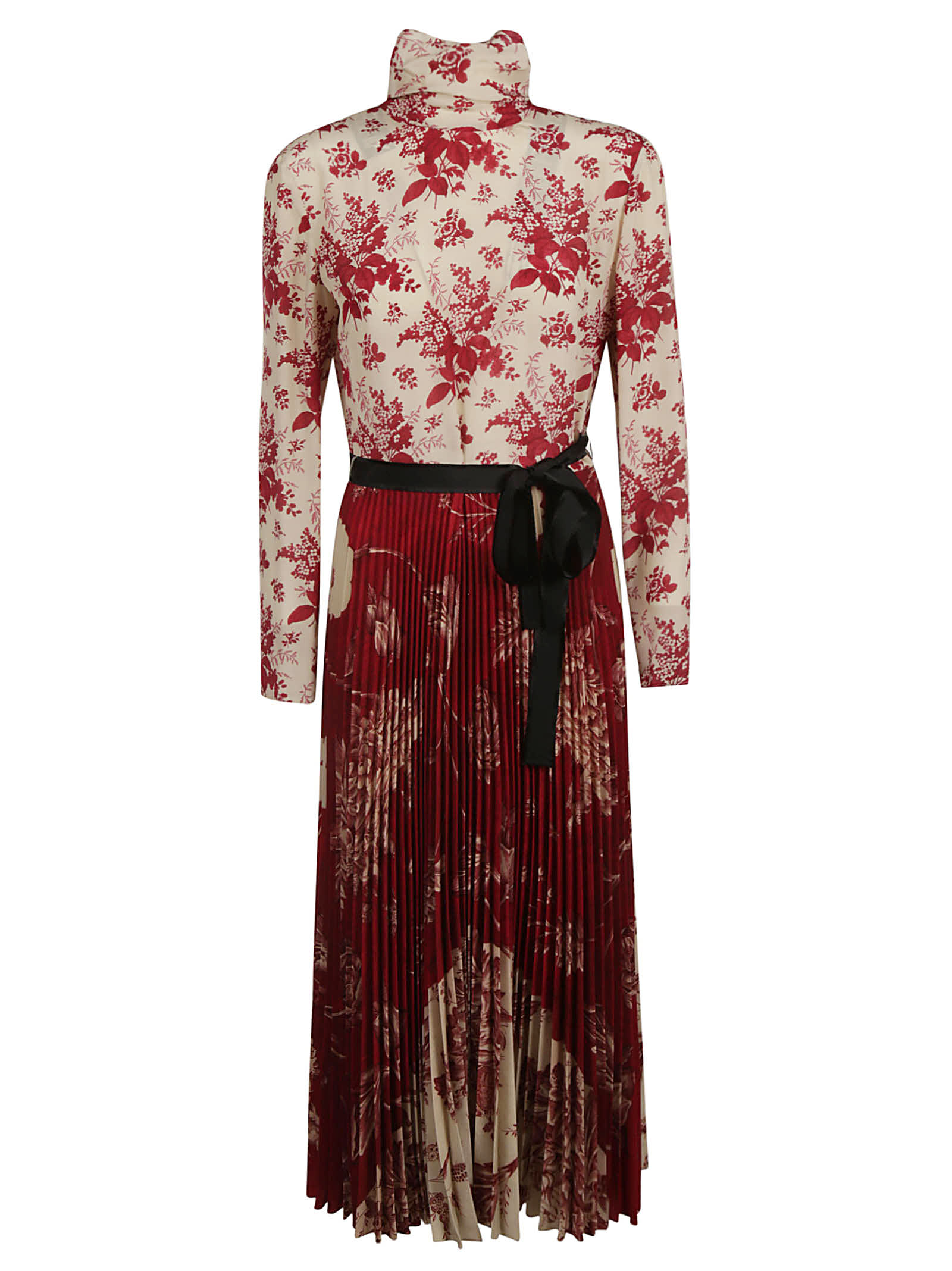 RED Valentino Floral Pleated Long Dress