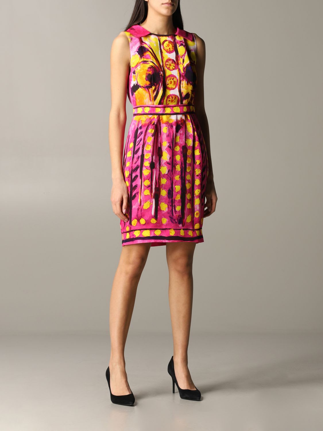 Buy Moschino Couture Dress Moschino Couture Print Dress online, shop Moschino with free shipping