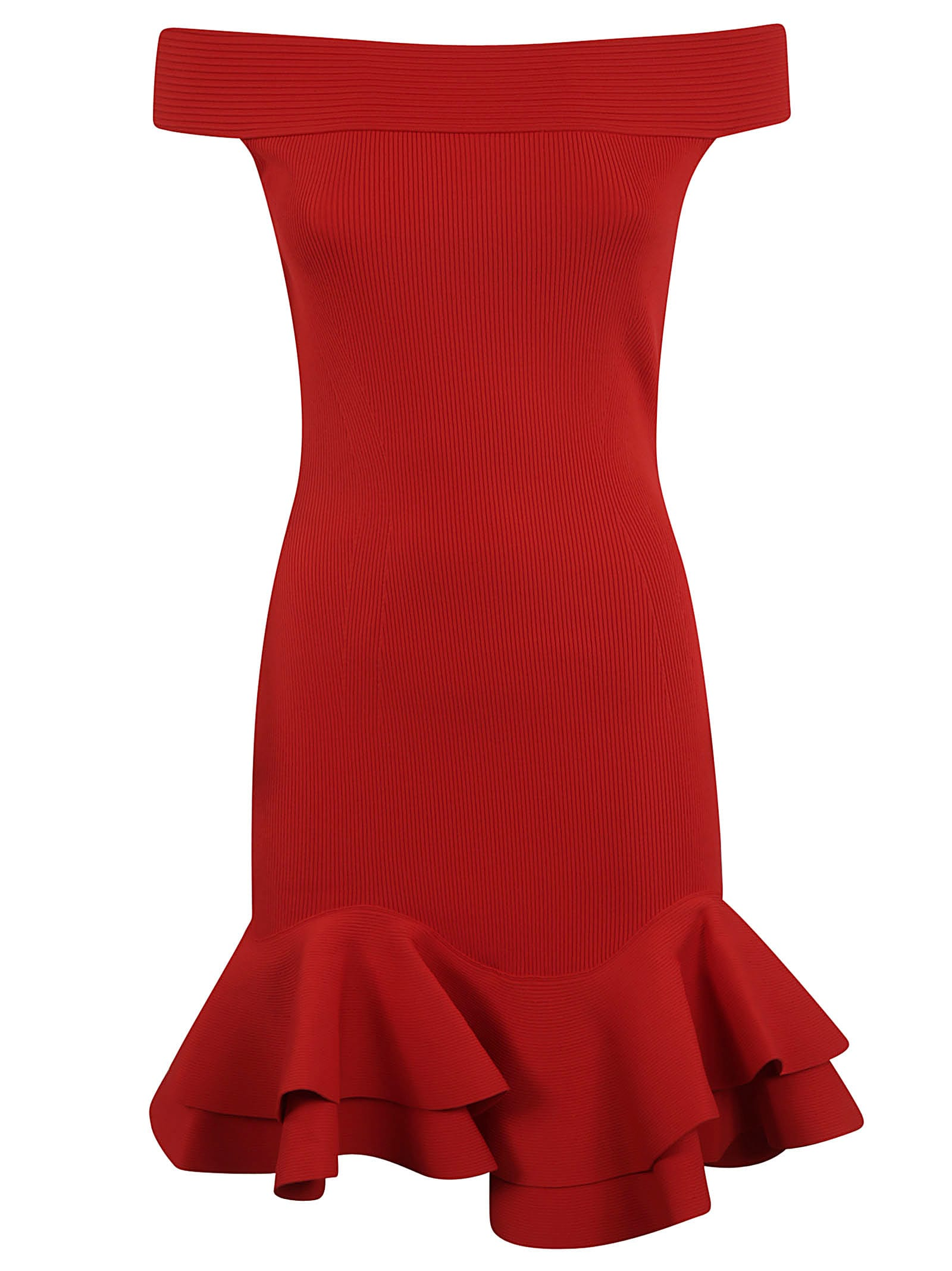 Alexander McQueen Slim Ruffled Dress