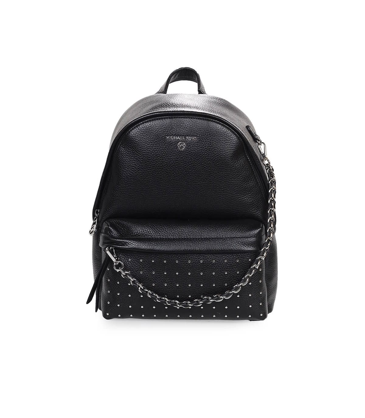 Michael Kors SLATER MEDIUM BLACK BACKPACK WITH STUDS