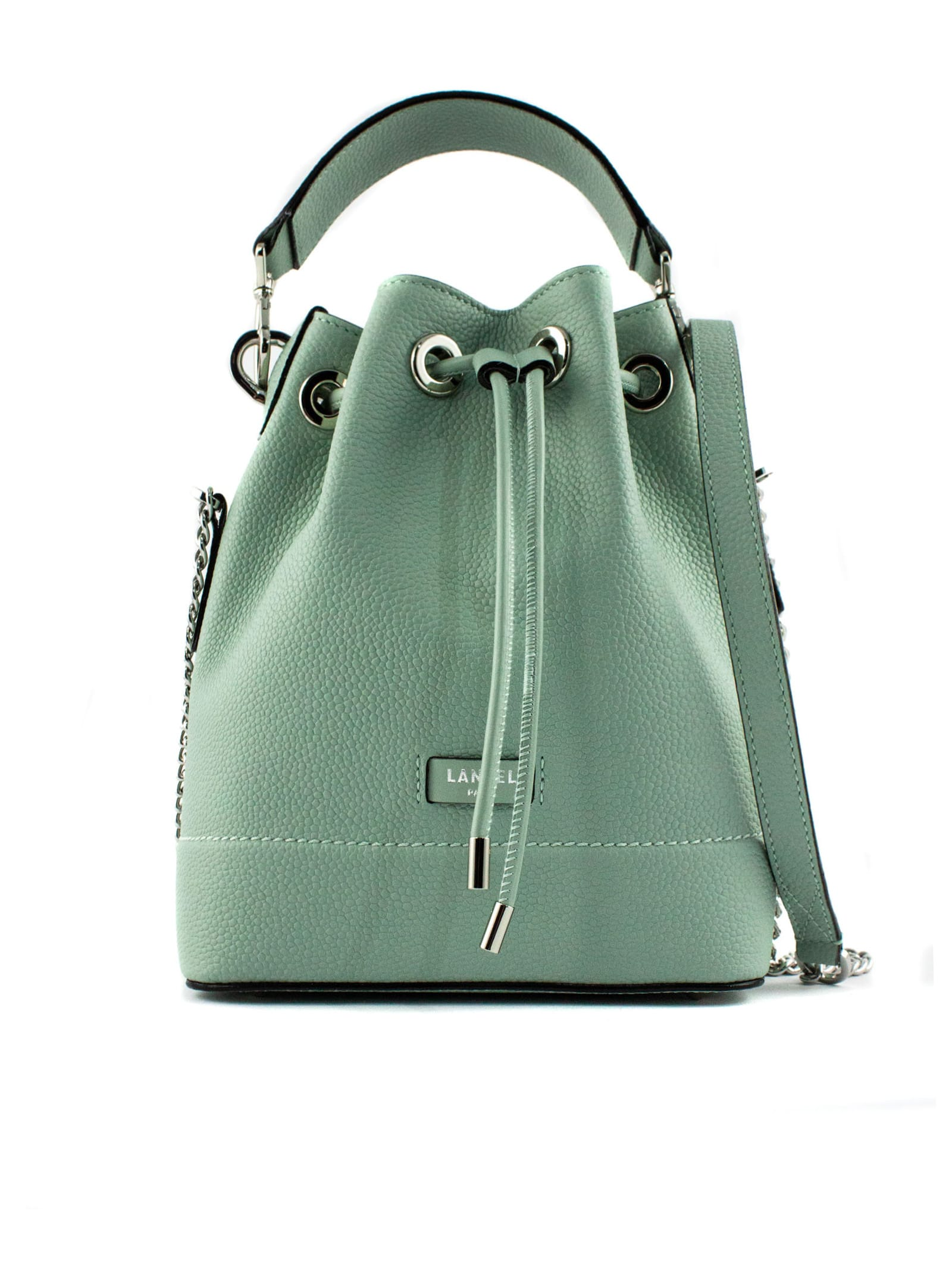 Grained Cow Leather Bucket Bag