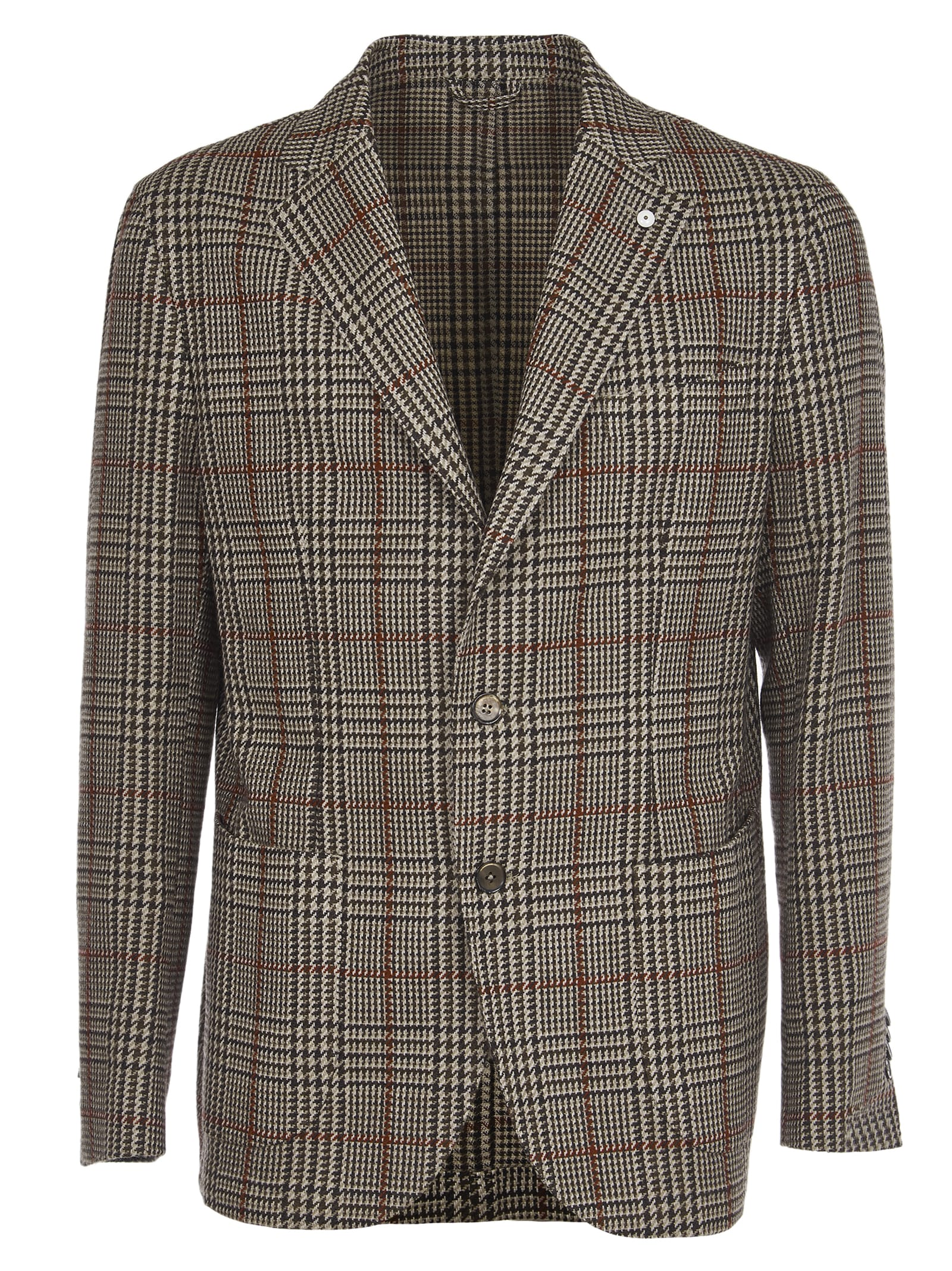1911 Brown Checked Wool Jacket
