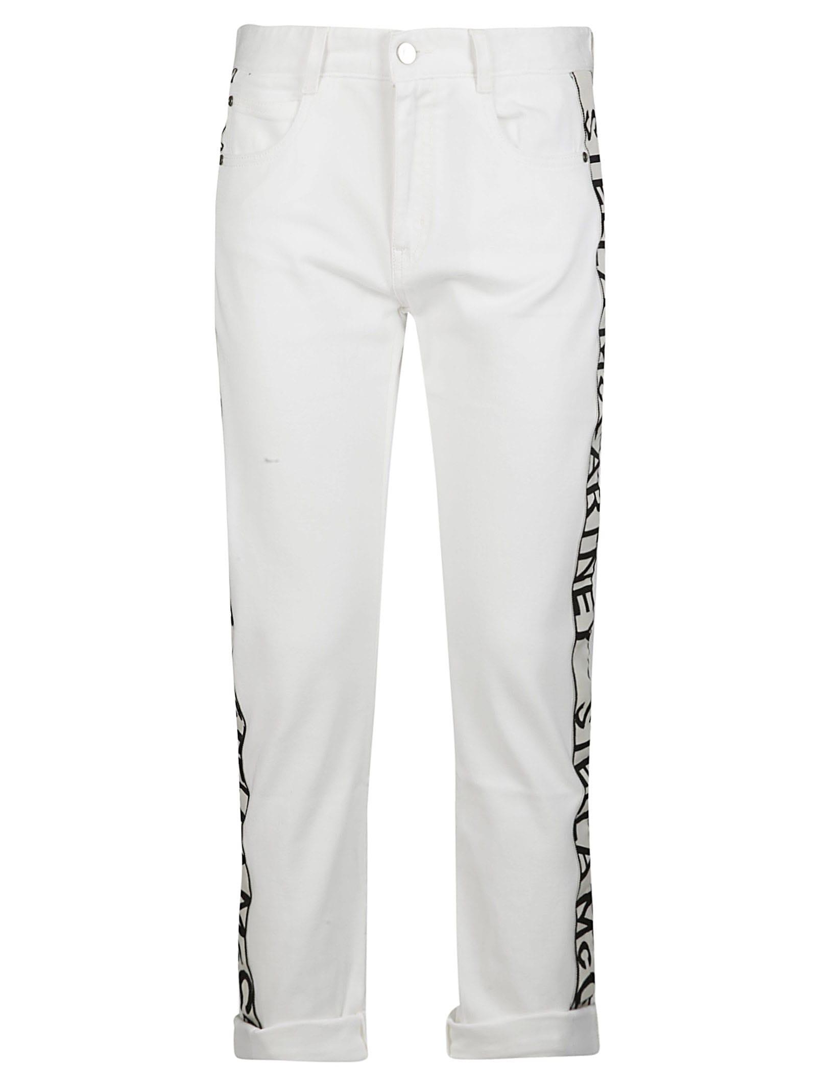 Stella Mccartney Logo Skinny Jeans In White