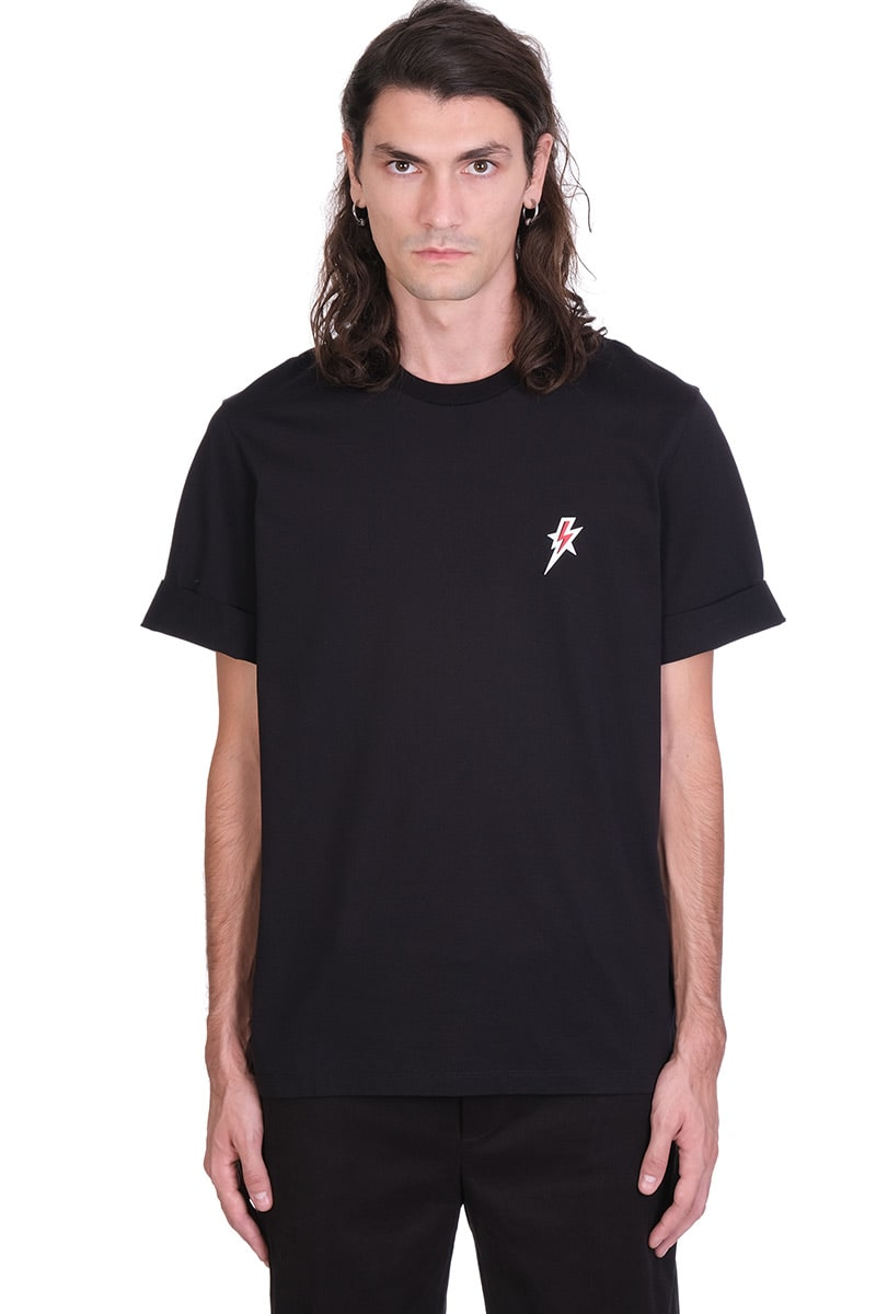 Neil Barrett T-shirt In Black Cotton