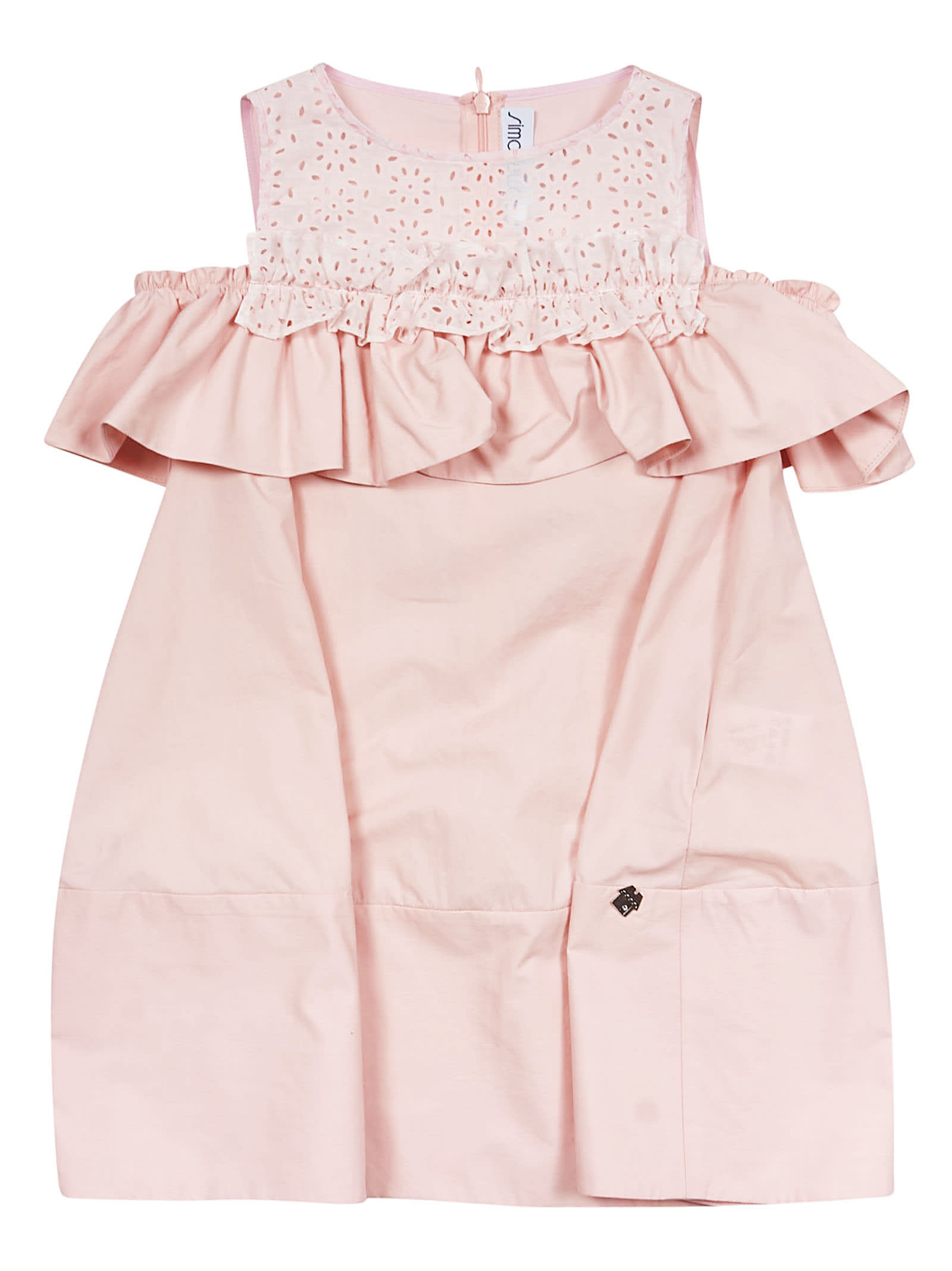 Simonetta Ruffle Trim Dress
