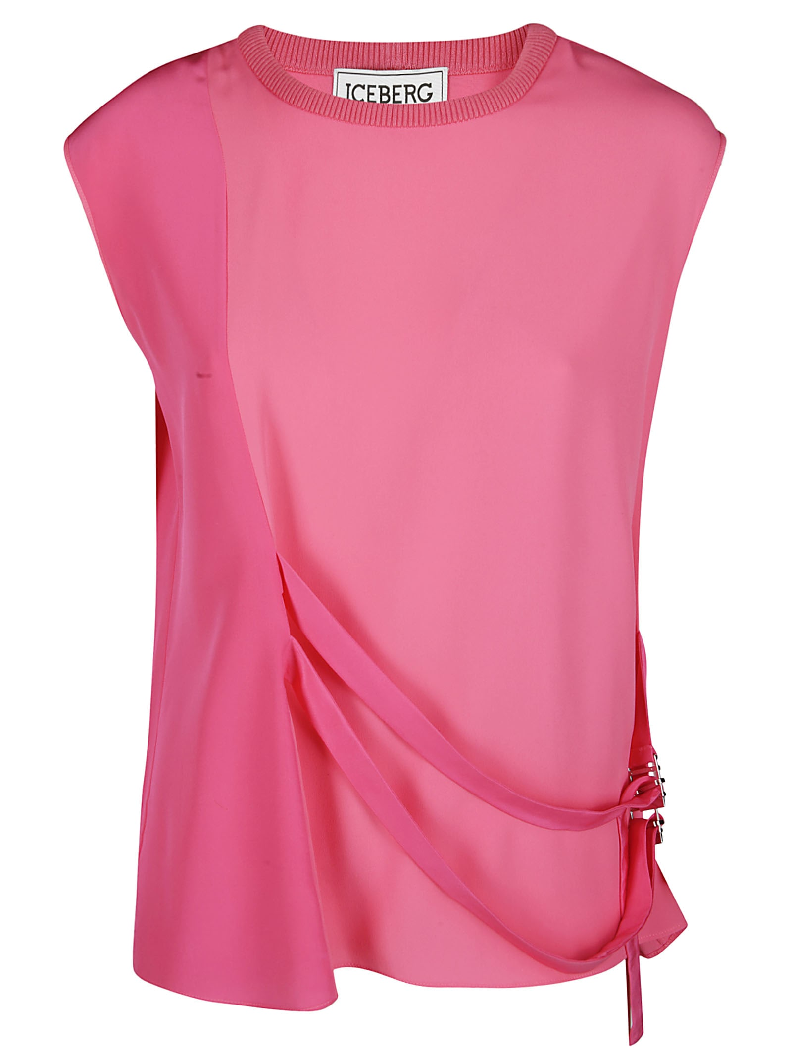 Iceberg Fuchsia Silkk Blend Blouse In Pink & Purple