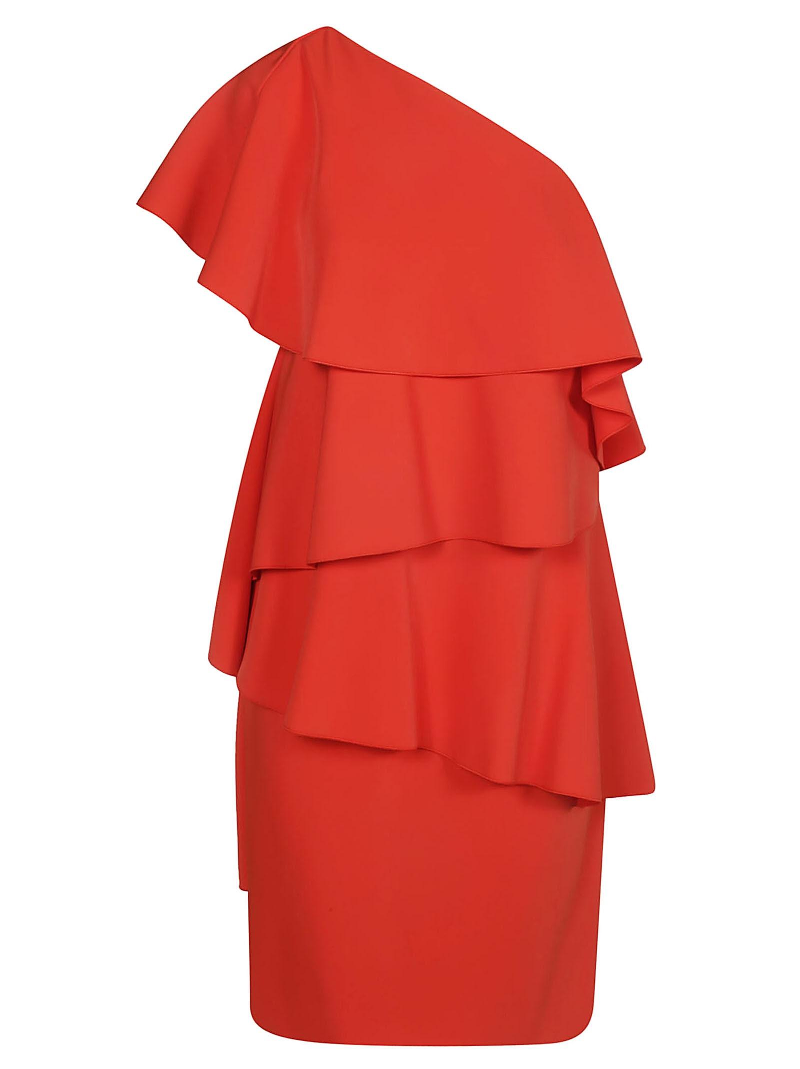 Lanvin Ruffled One Shoulder Dress