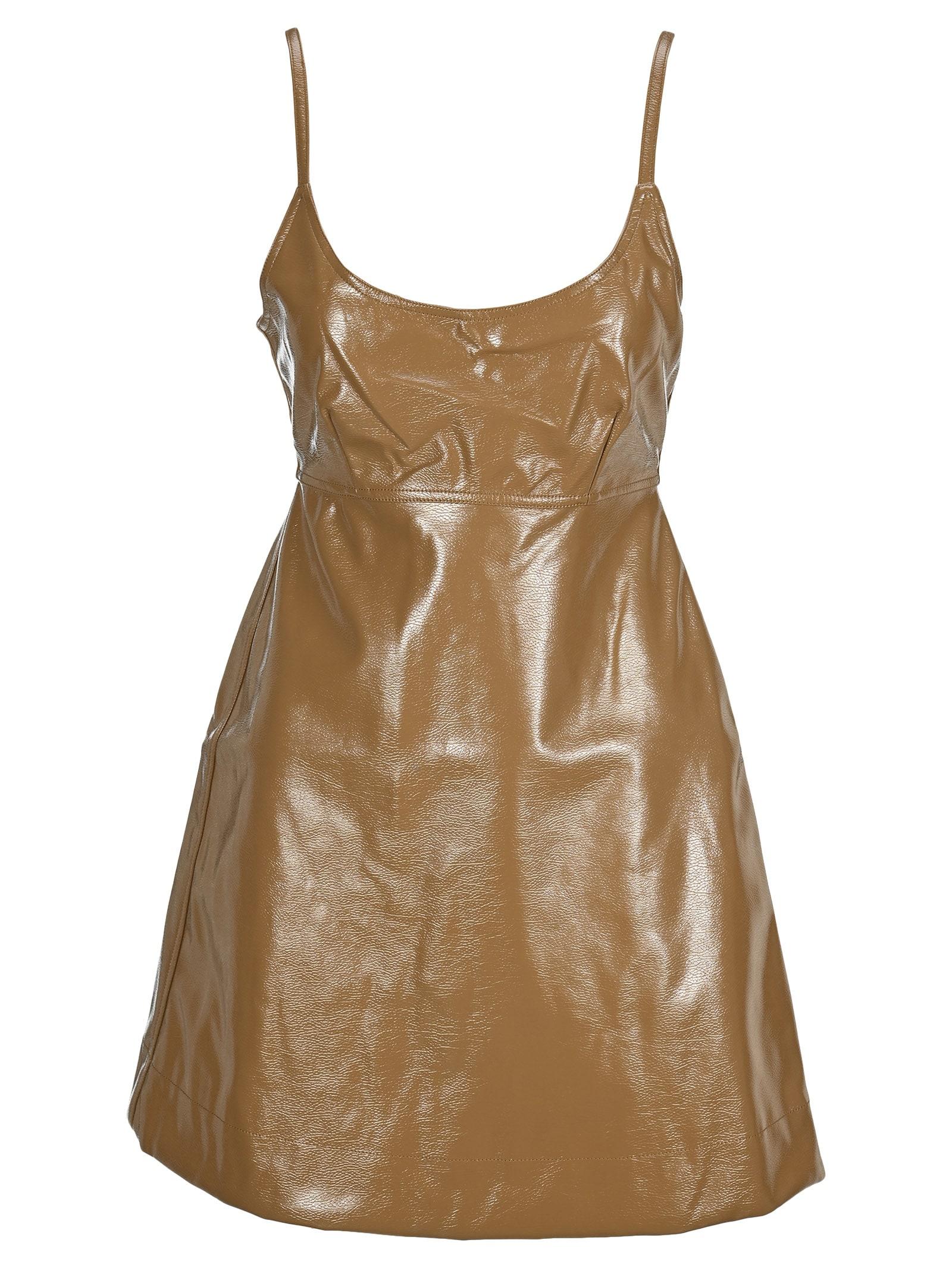 Buy Ganni Bow Mini Dress online, shop Ganni with free shipping