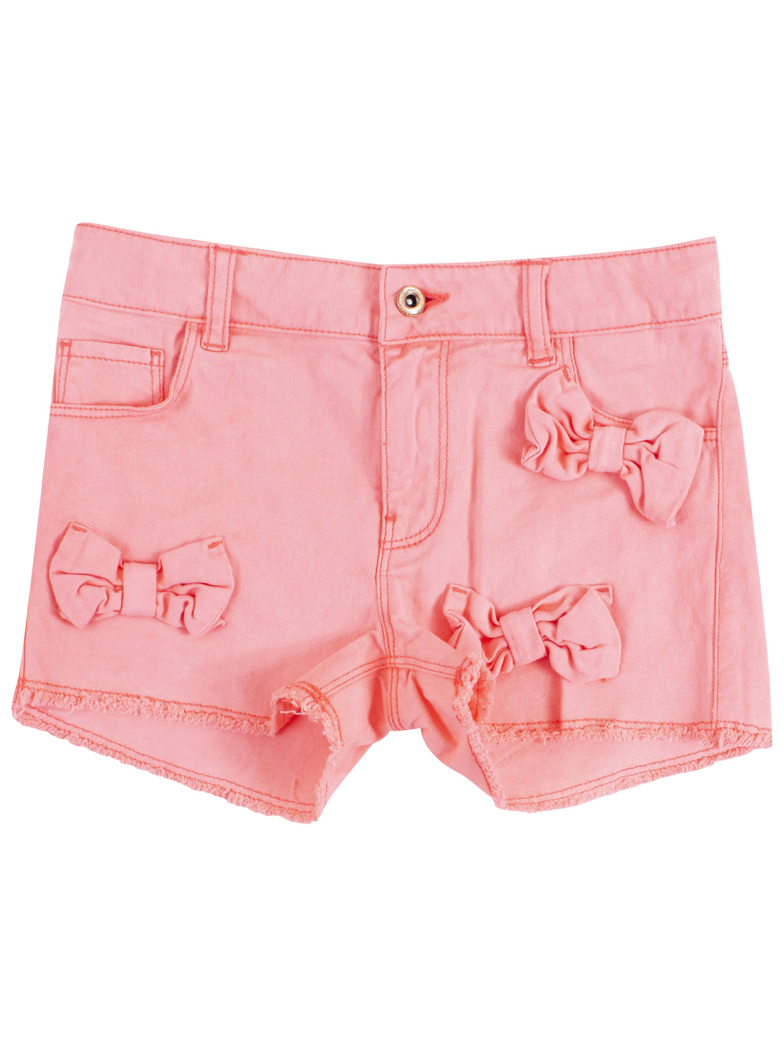 Little Girl Shorts With Bows