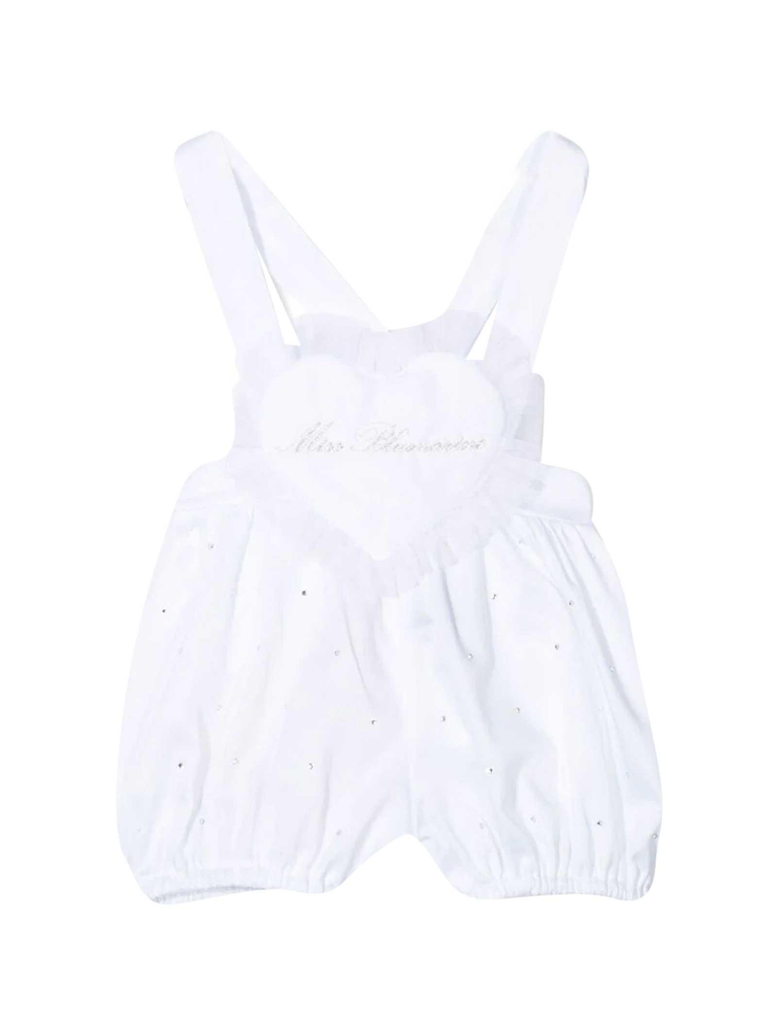 Miss Blumarine Clothing WHITE DUNGAREES