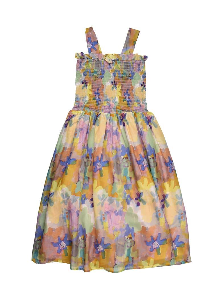 Buy Stella McCartney Cotton And Silk Fantasy Shoulder Dress online, shop Stella McCartney with free shipping