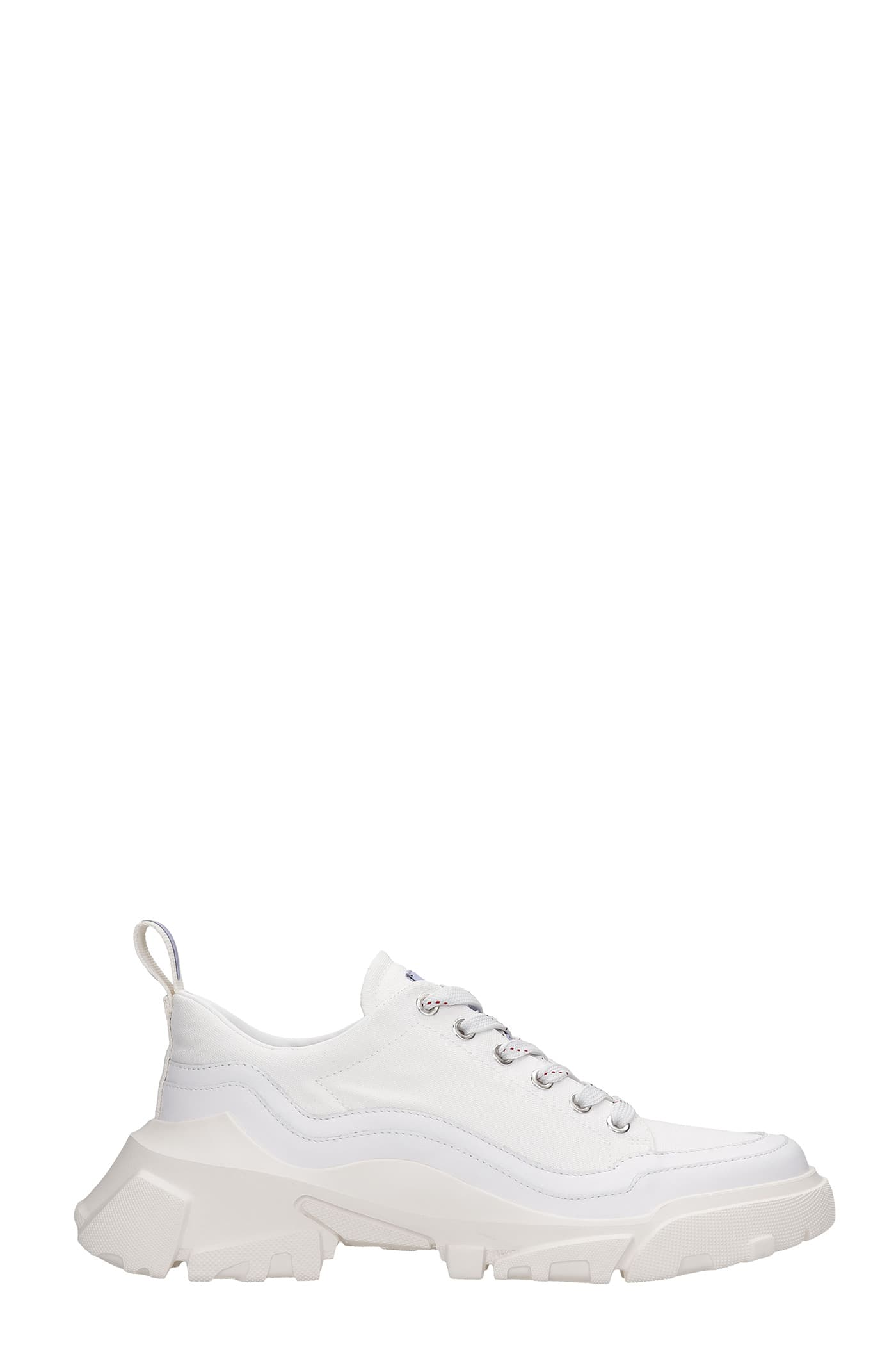 Sneakers In White Canvas