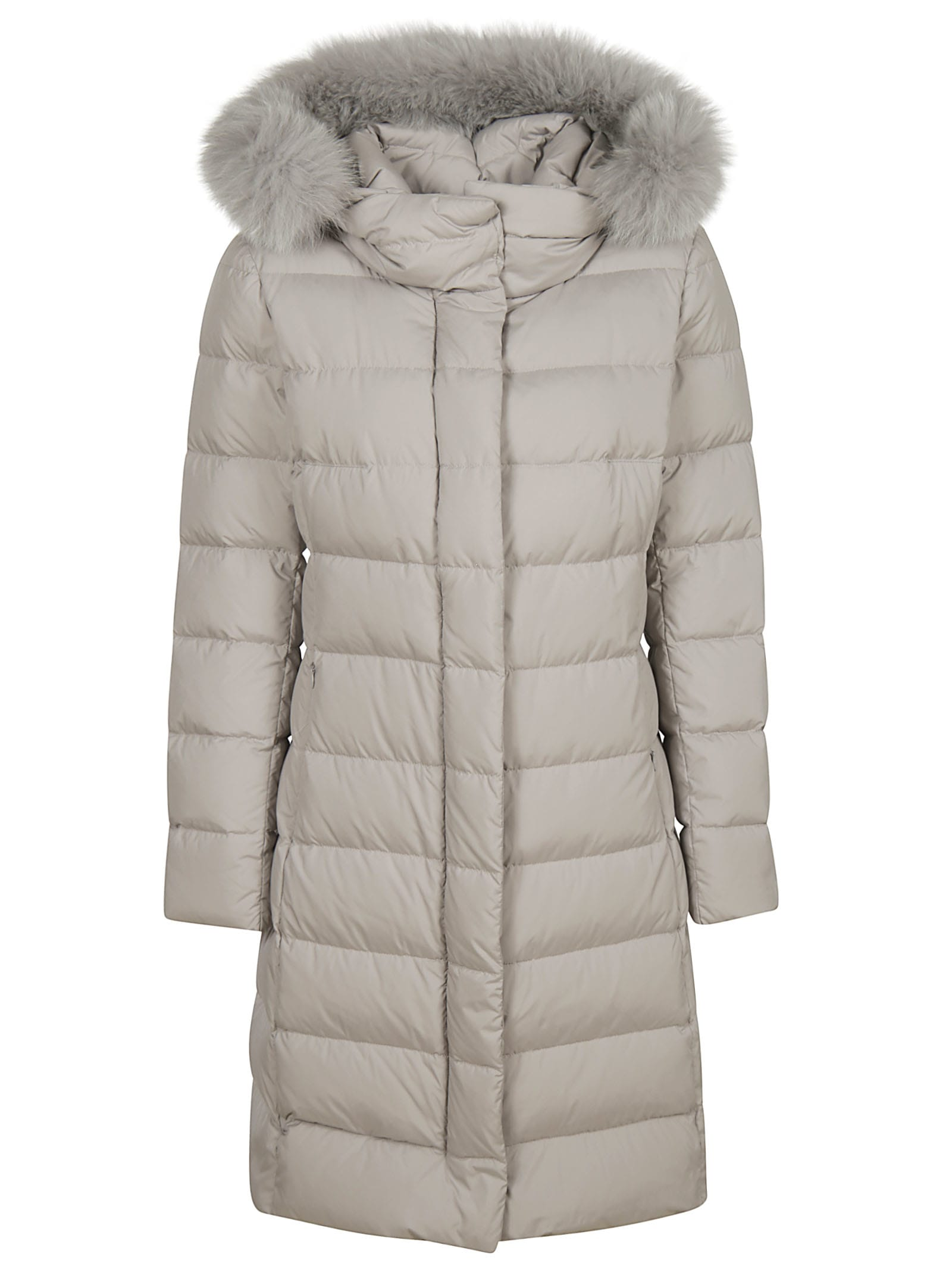 Herno Long Fur Padded Jacket