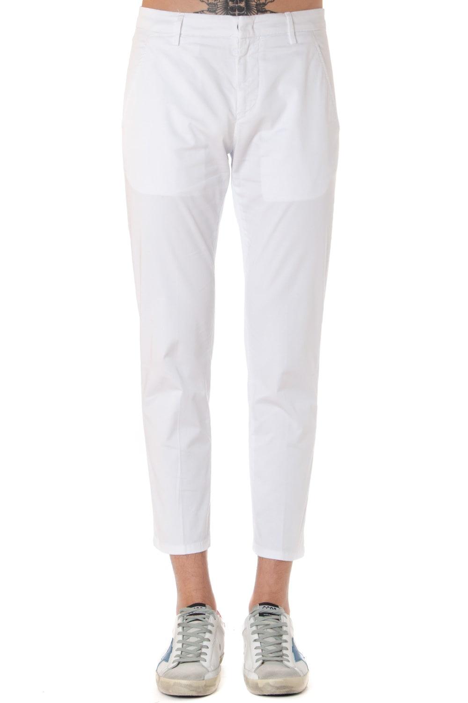 Dondup Alfredo White Cotton Pants