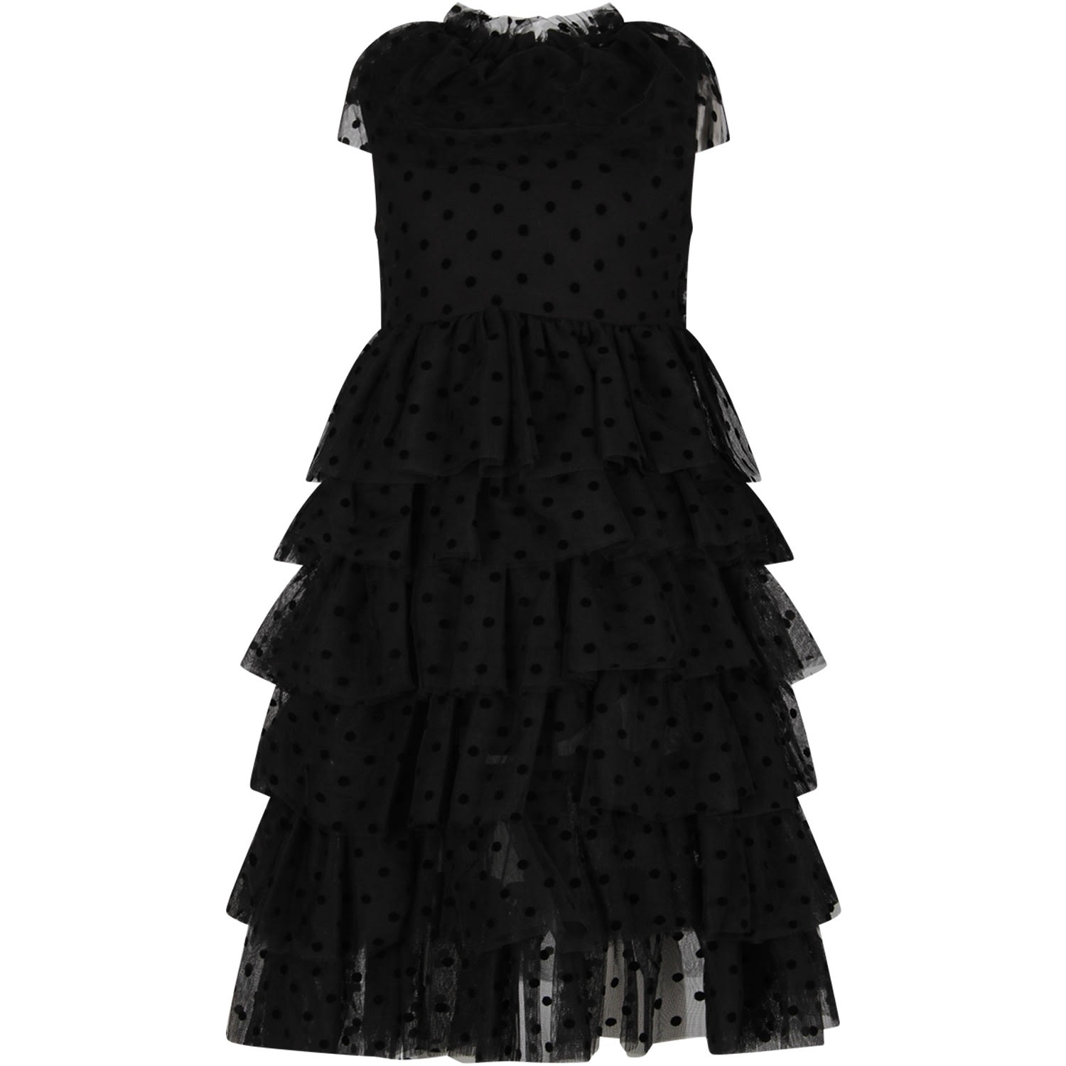 Buy Sonia Rykiel Black Girl Dress With Polka-dots online, shop Sonia Rykiel with free shipping