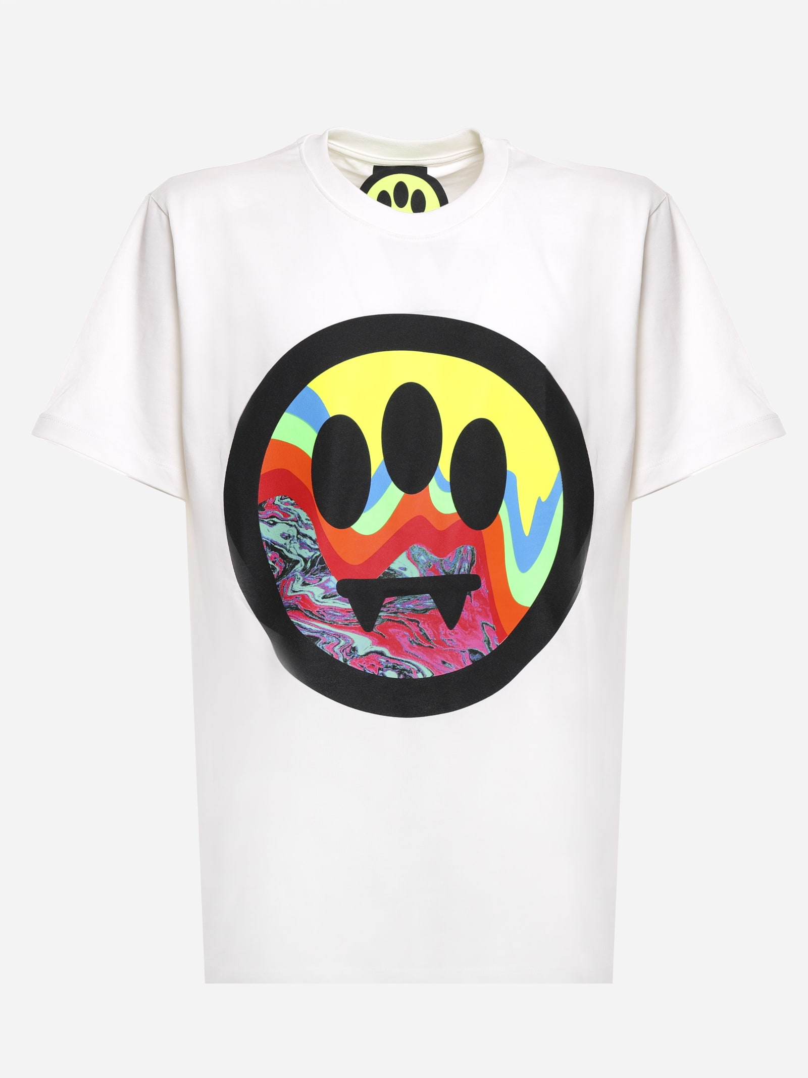 Barrow Cottons COTTON T-SHIRT WITH MAXI SCREEN PRINTING