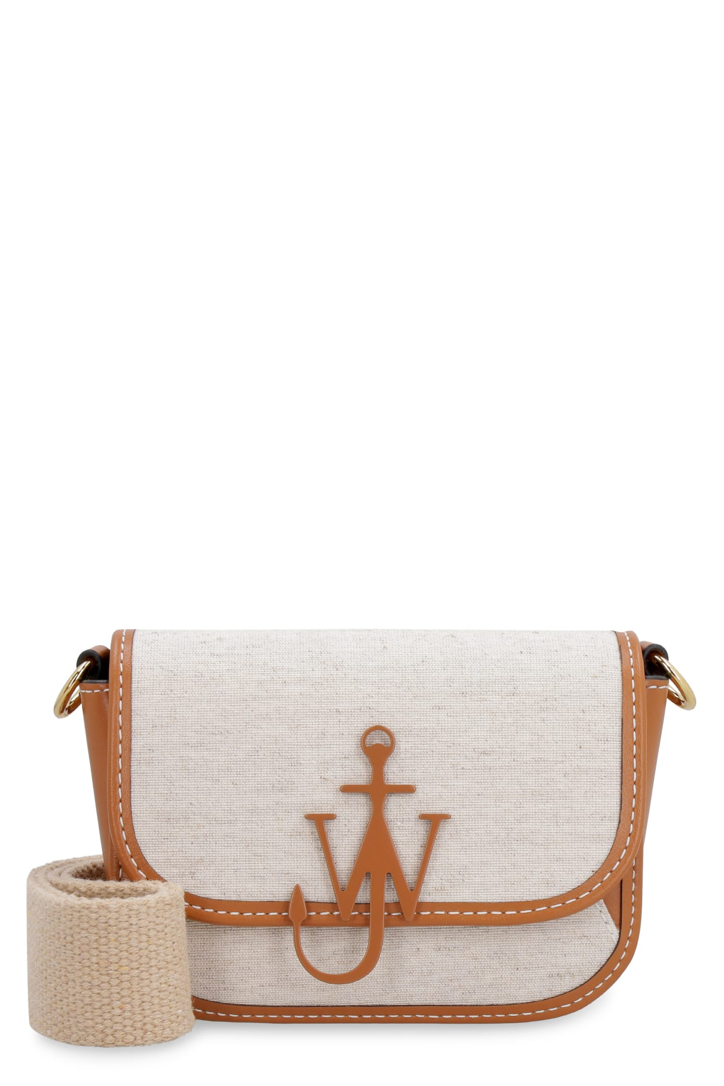 Jw Anderson NANO ANCHOR CANVAS AND LEATHER CROSSBODY BAG