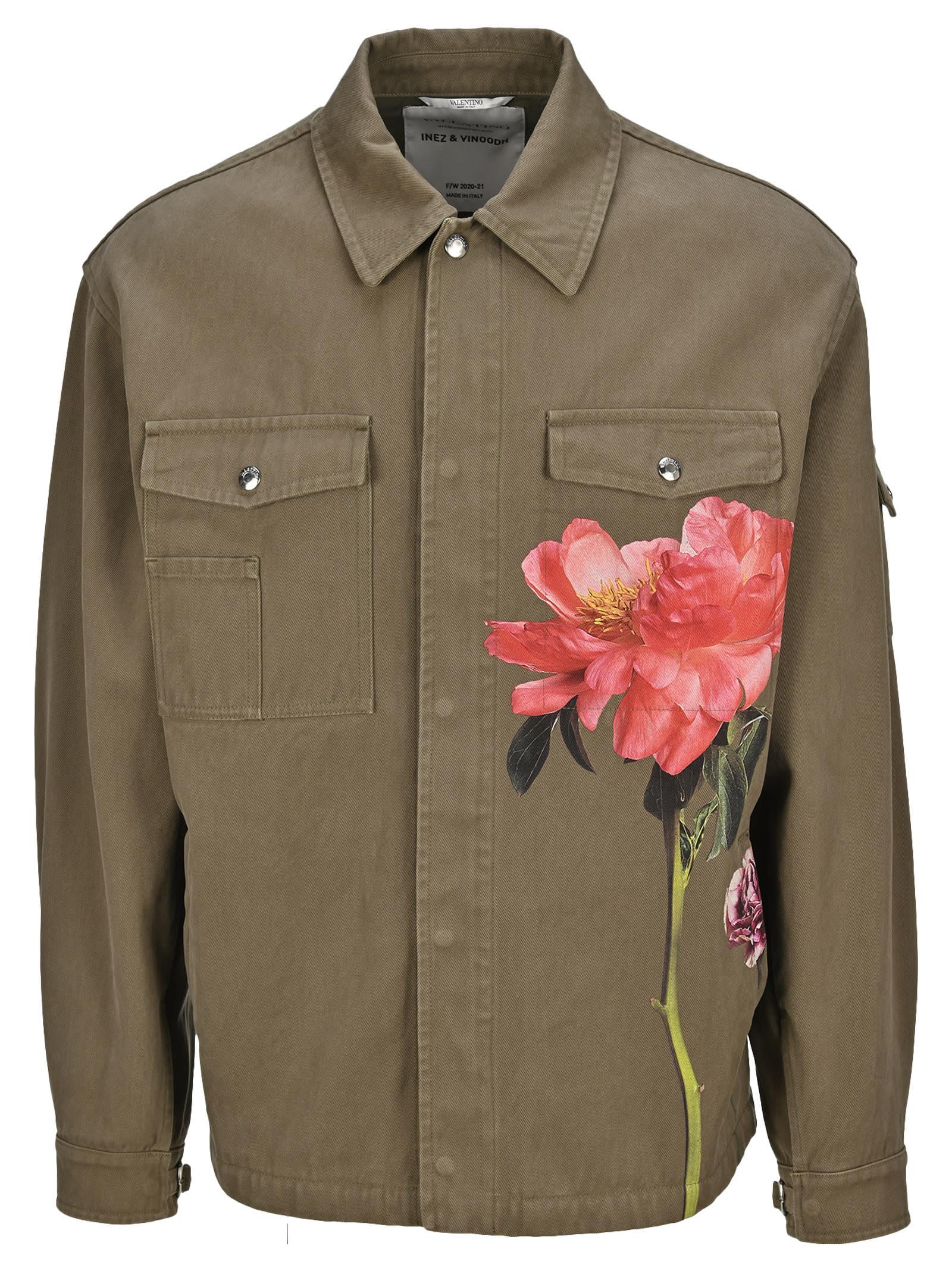 Valentino Cottons FLOWERSITY SHIRT JACKET