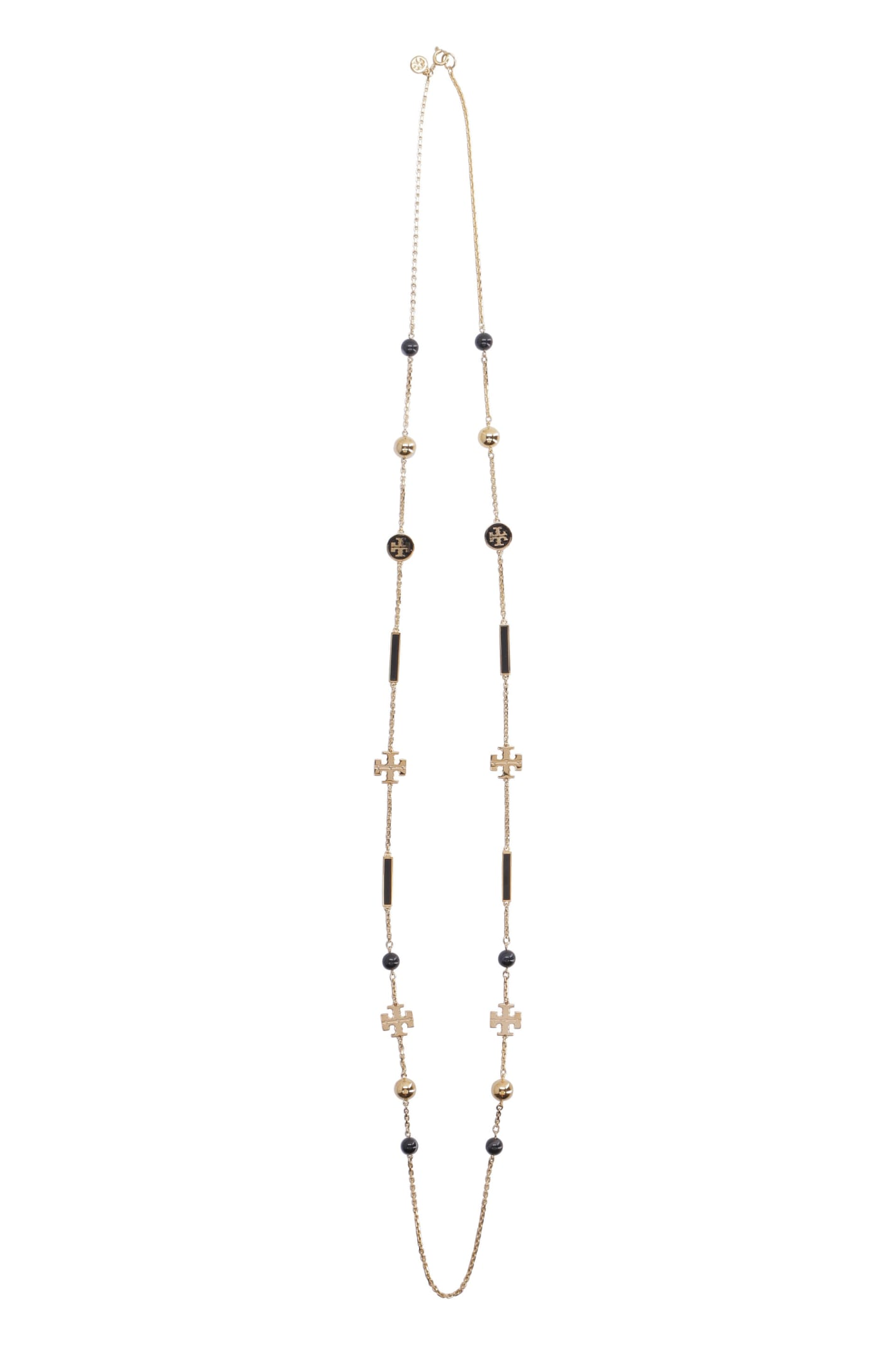 Tory Burch Kira Rosary Long Necklace With Decorative Charms