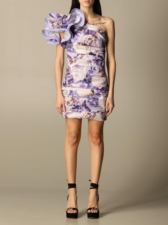Elisabetta Franchi Dress Elisabetta Franchi Short Dress With Peony Pattern