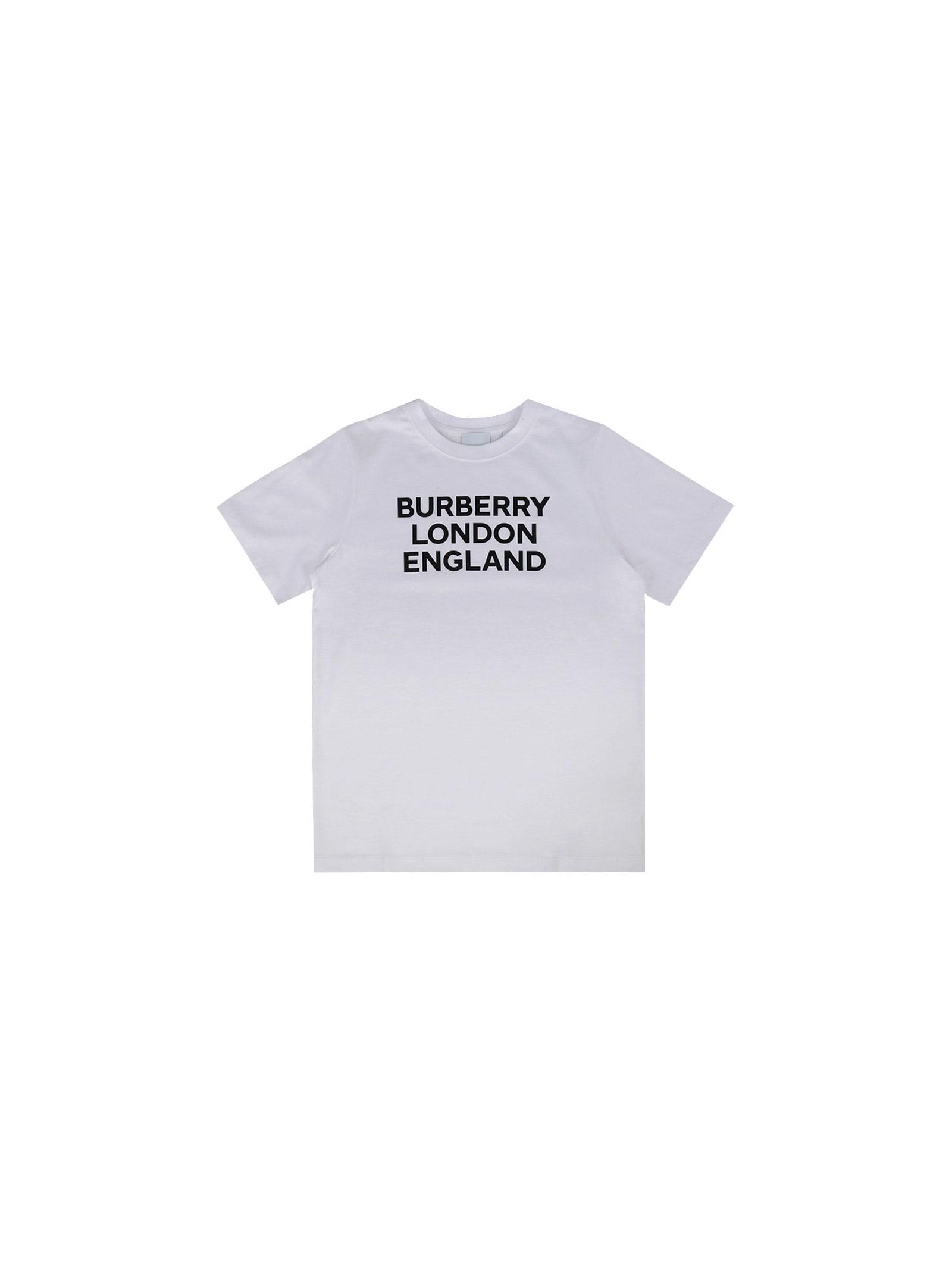 Burberry Kids' T-shirt For Girl In White