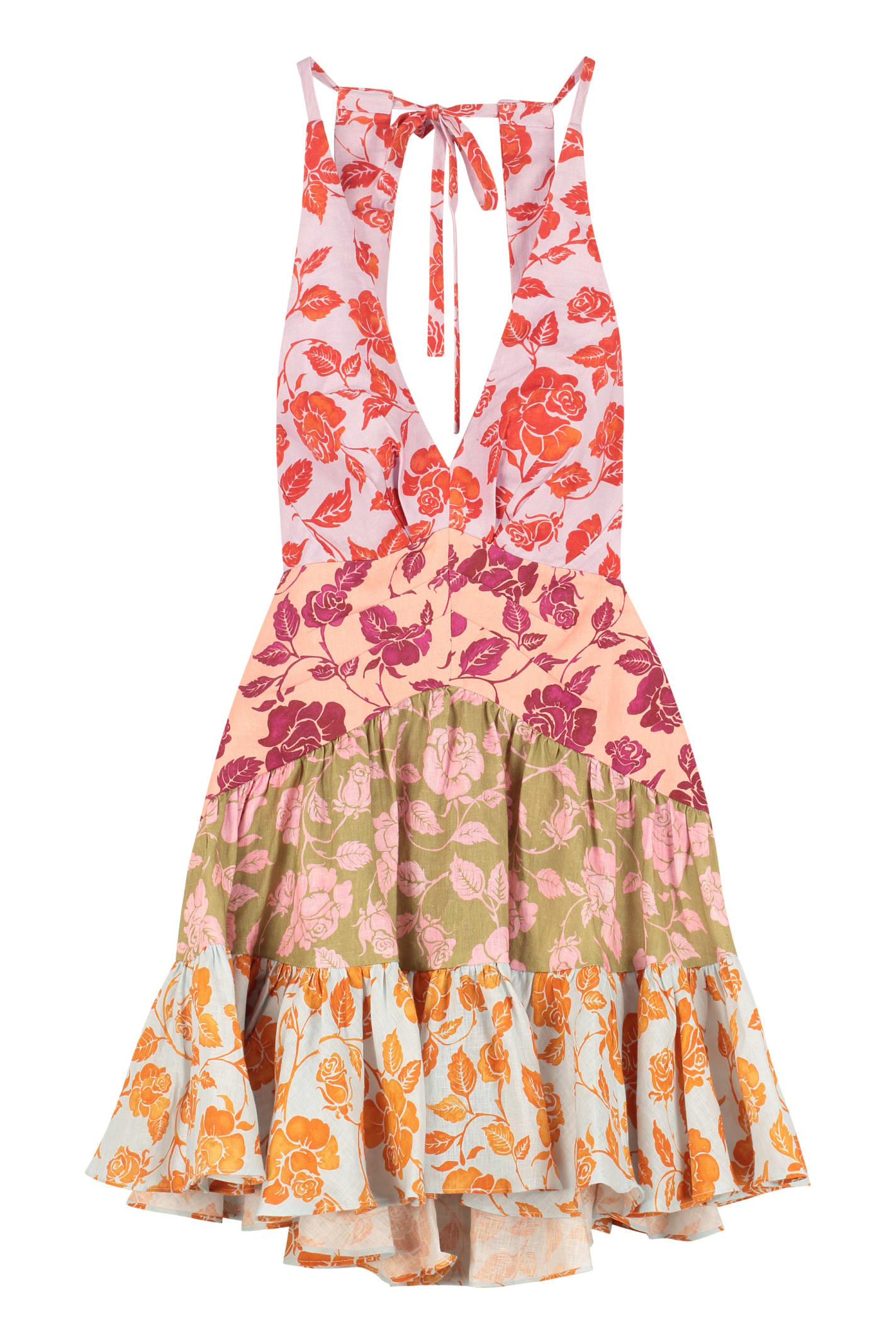 Zimmermann THE LOVESTRUCK PRINTED LINEN MINI-DRESS