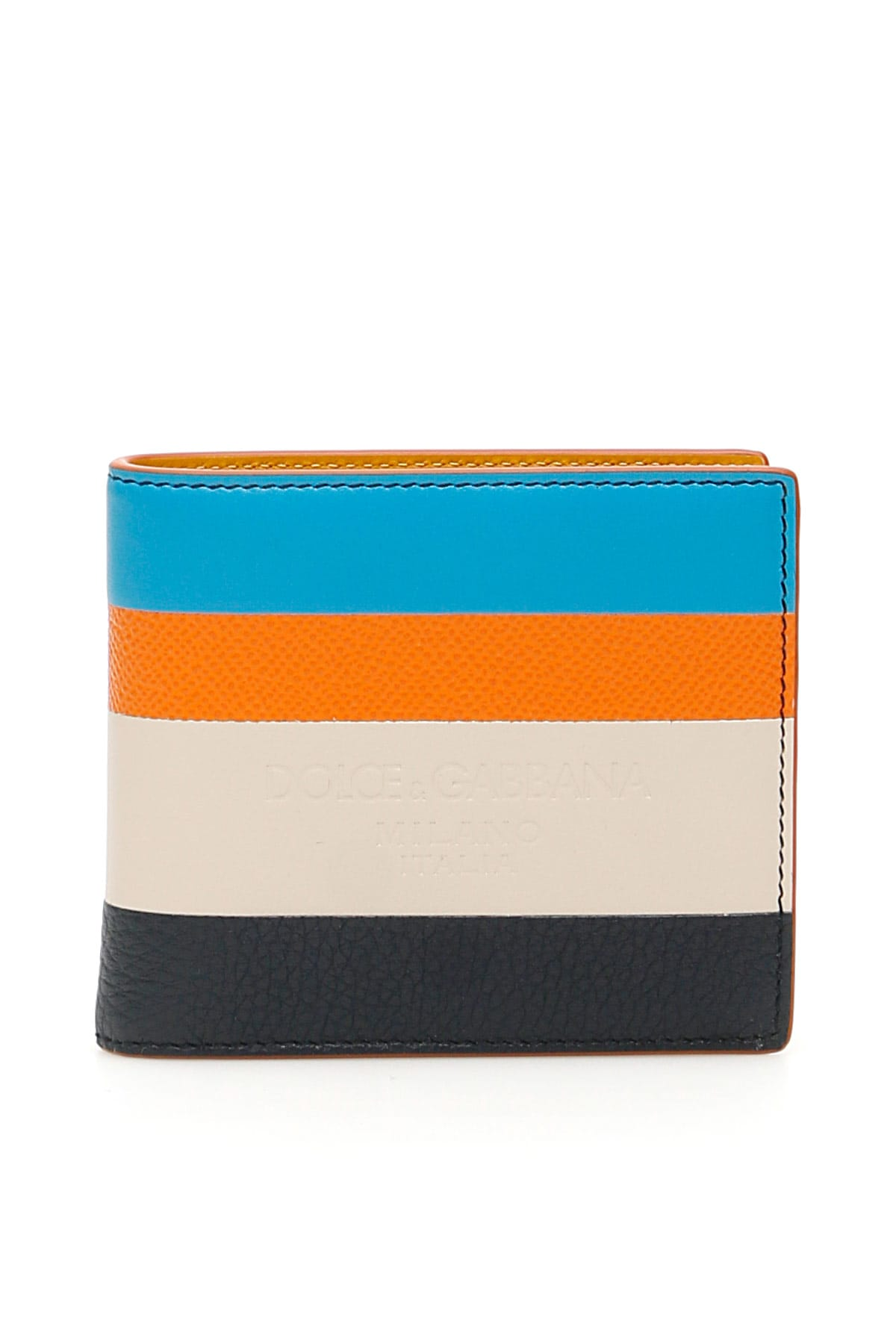 Dolce & Gabbana Multicolor Stripe Wallet