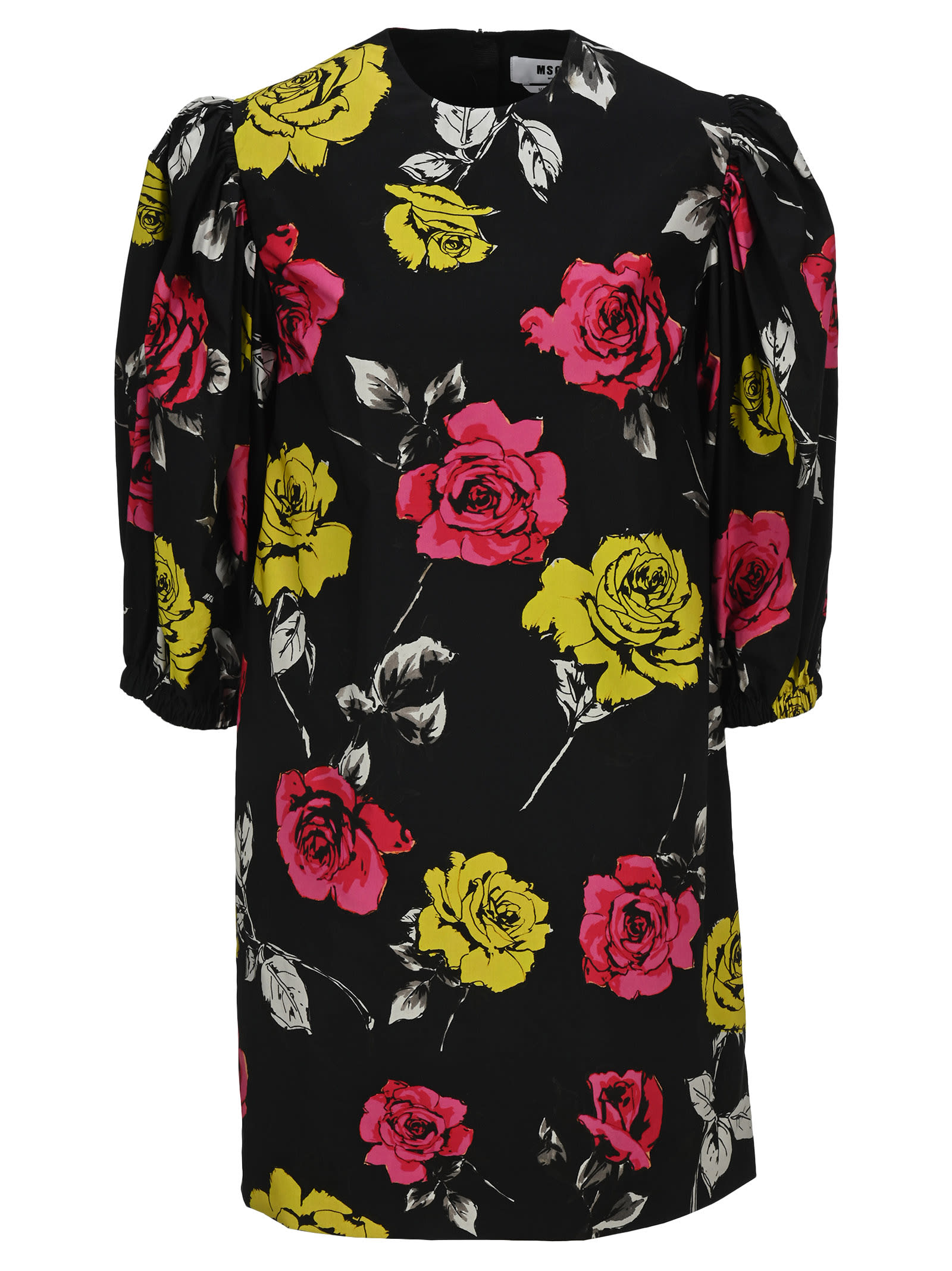 Buy Msgm Floral Mini Dress online, shop MSGM with free shipping
