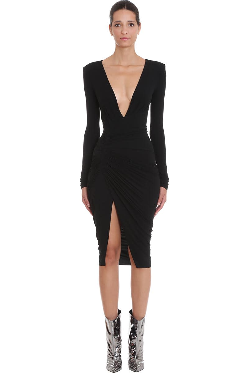 Alexandre Vauthier Dress In Black Viscose