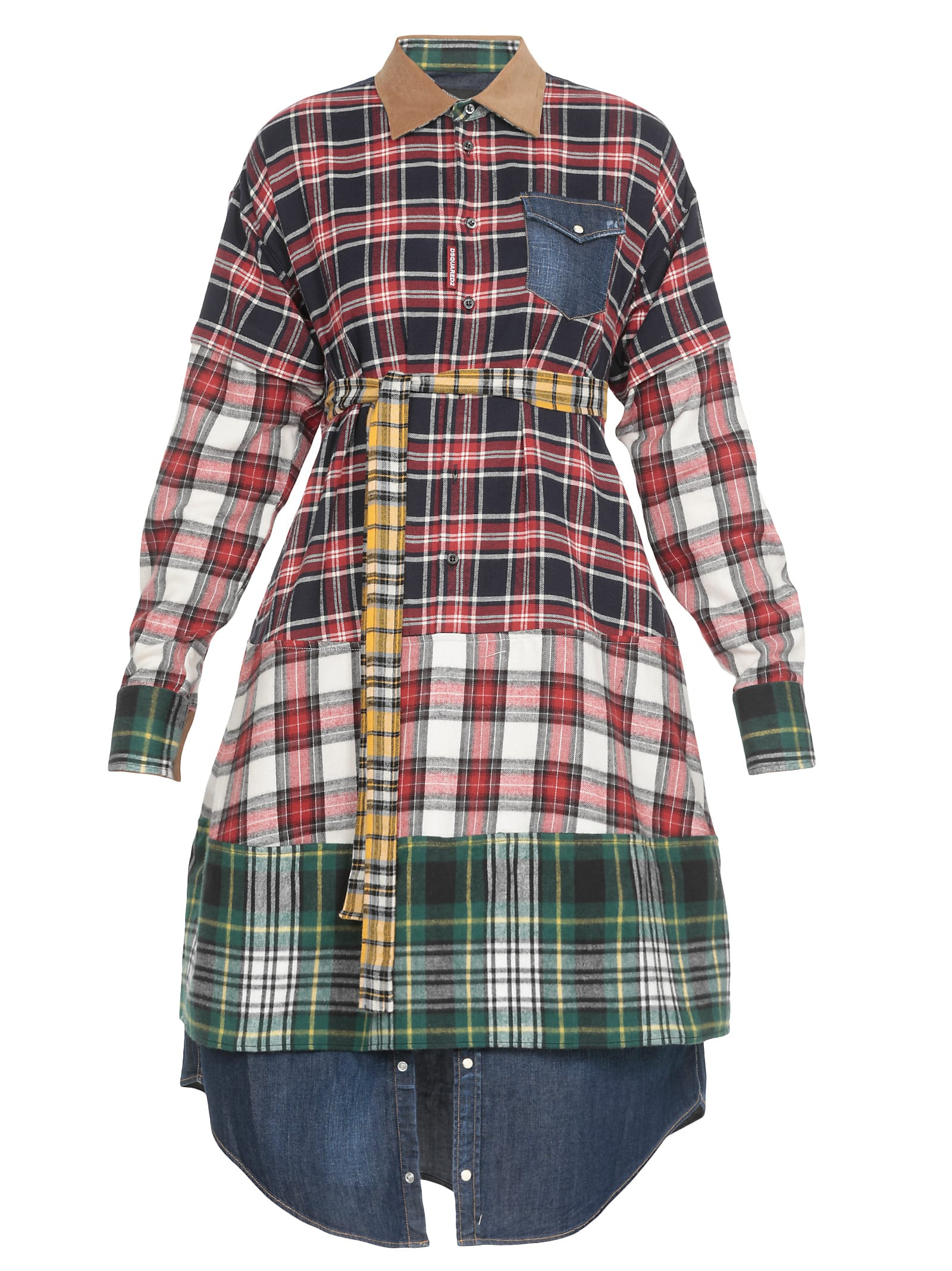 Dsquared2 Multi Check Chemisier Dress