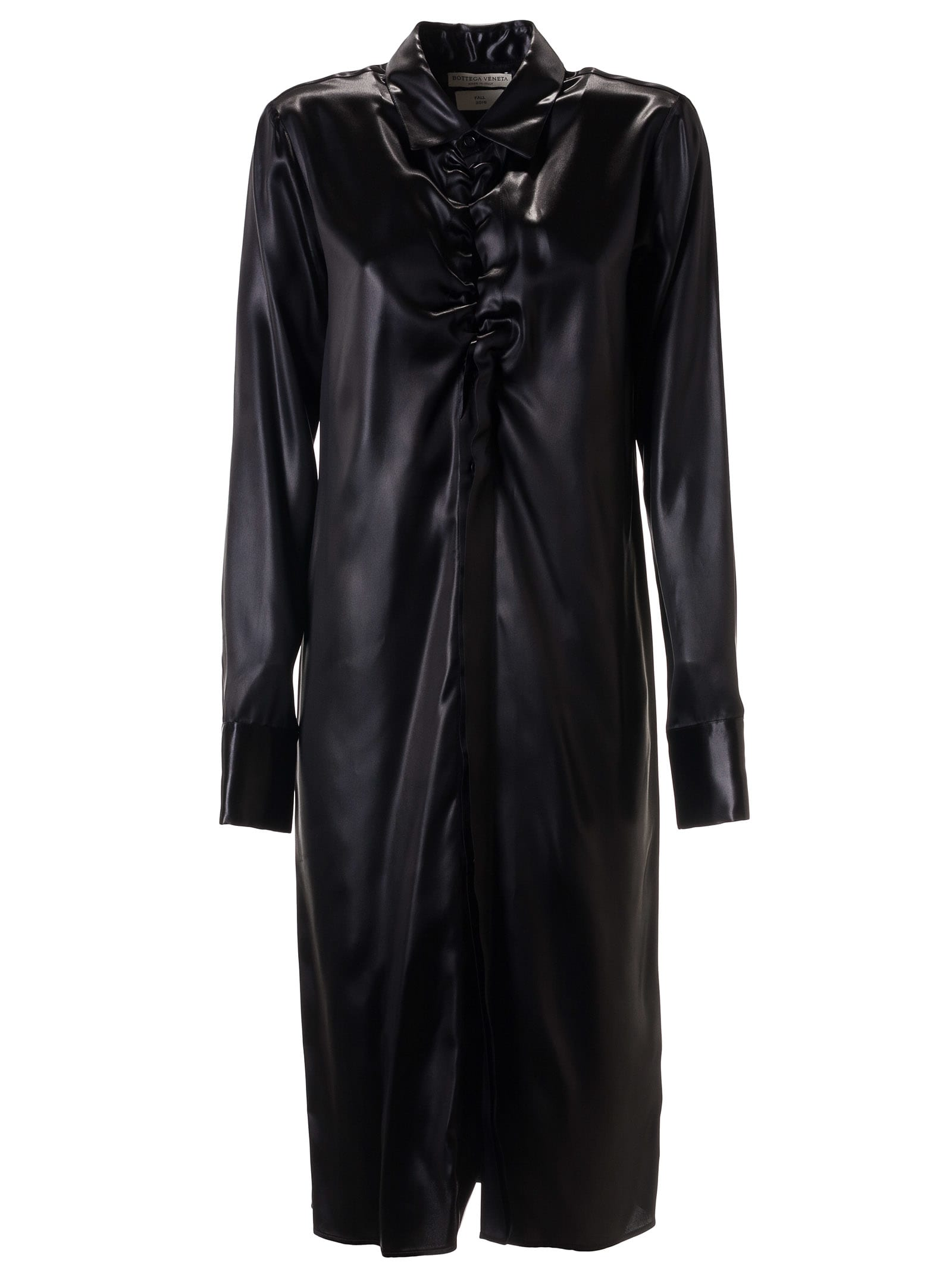 Bottega Veneta Lacquered Satin Dress