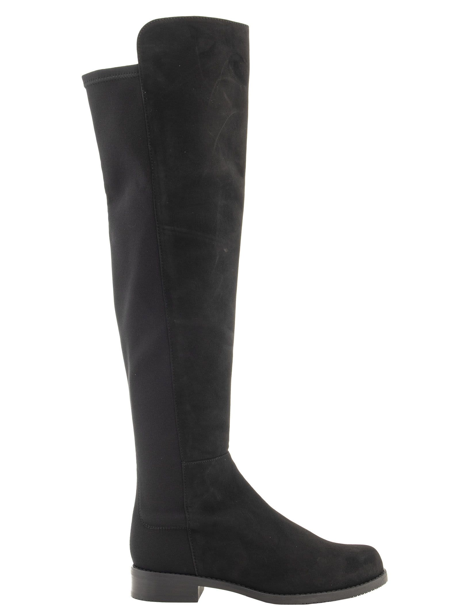 Stuart Weitzman 5050 Boot Suede With Stretch Elastic Back