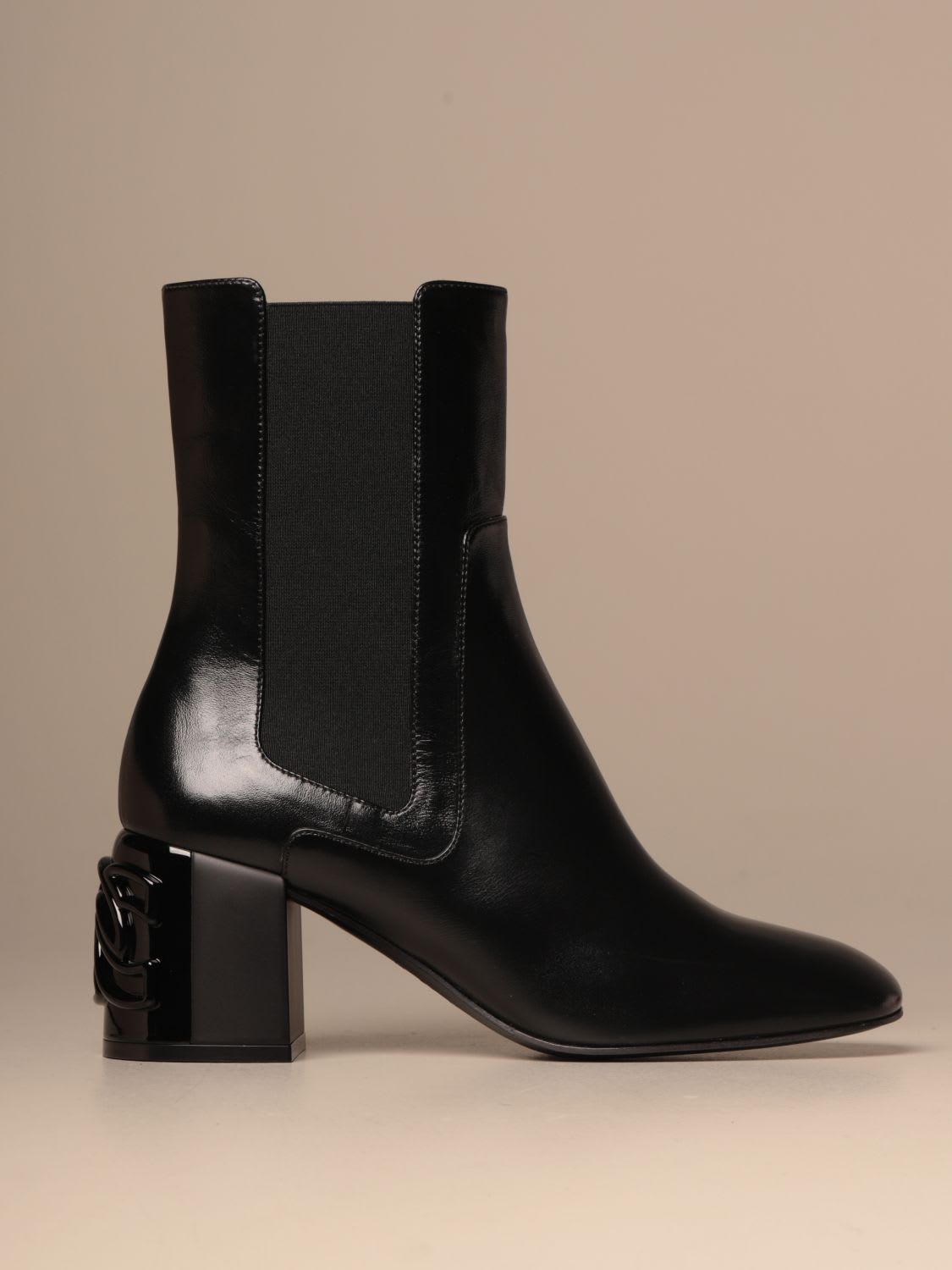 Casadei Heeled Booties Casadei C-chain Leather Ankle Boot