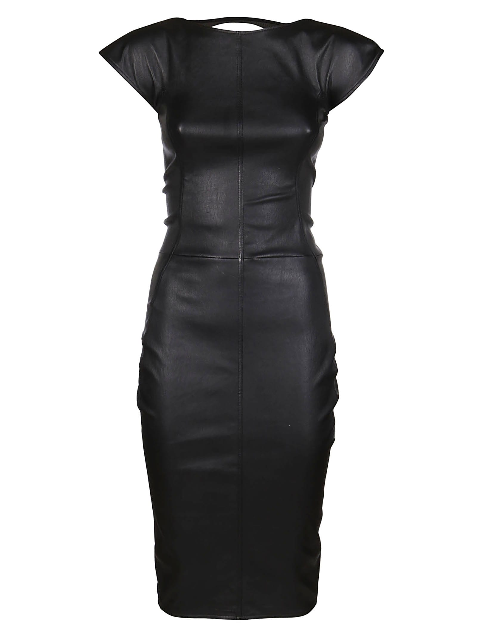 Buy Rick Owens Black Midi Dress online, shop Rick Owens with free shipping
