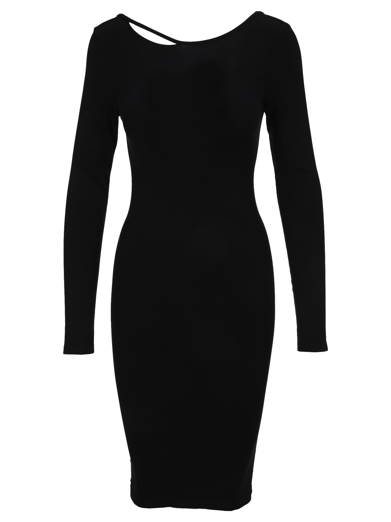 Helmut Lang V-back Dress In Black