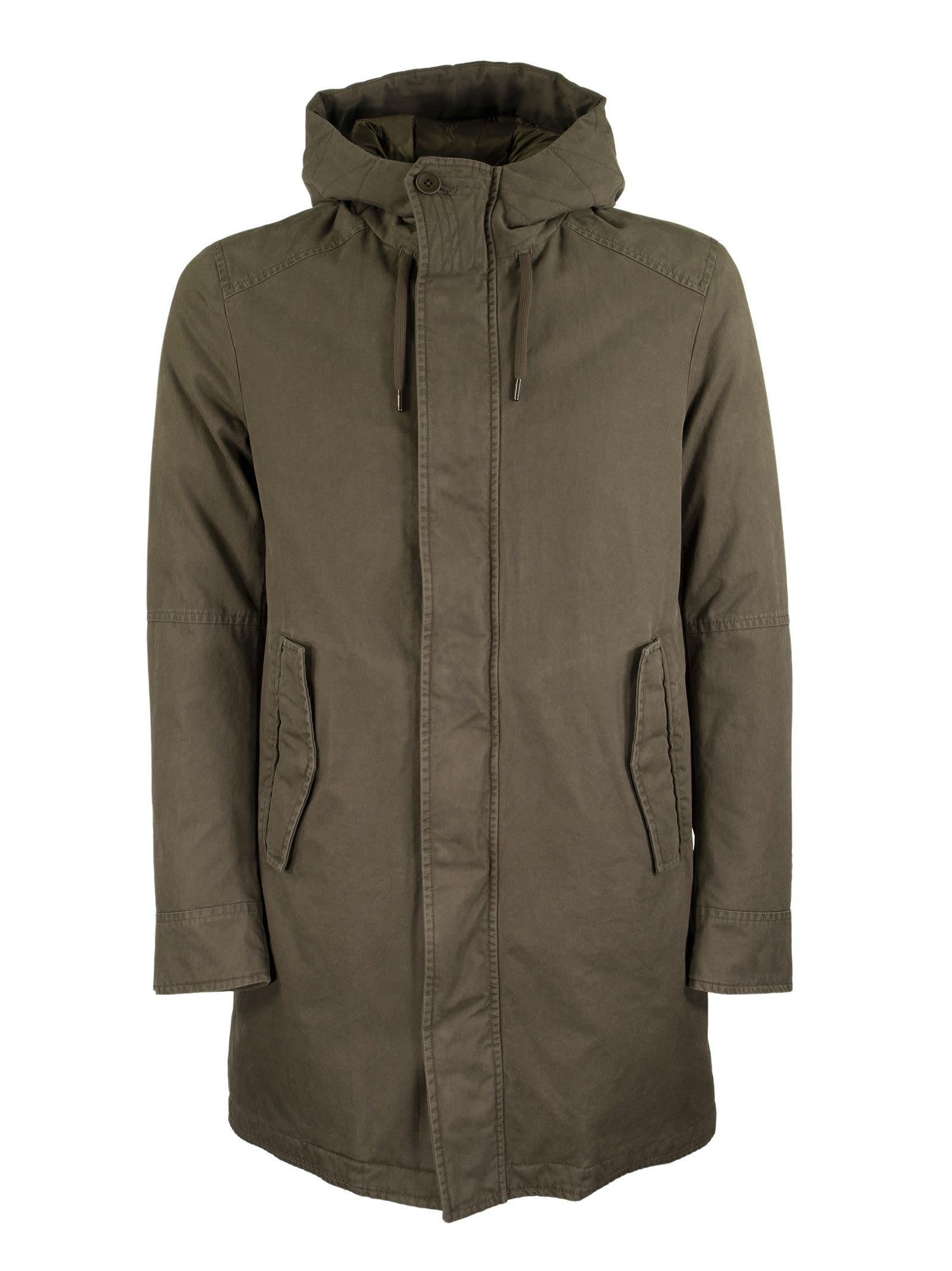 Herno Long Cotton Down Jacket