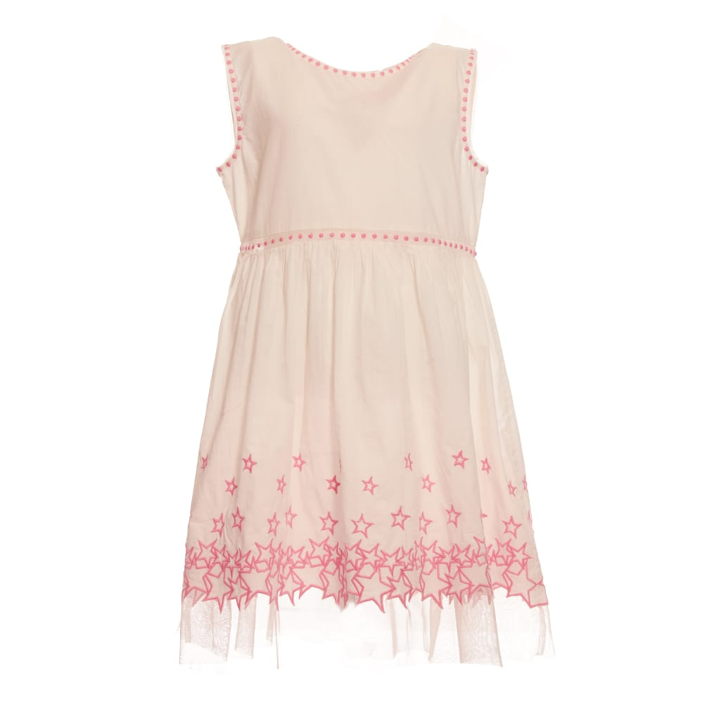 Buy Stella McCartney Stars Embroidery Cotton Dress online, shop Stella McCartney with free shipping