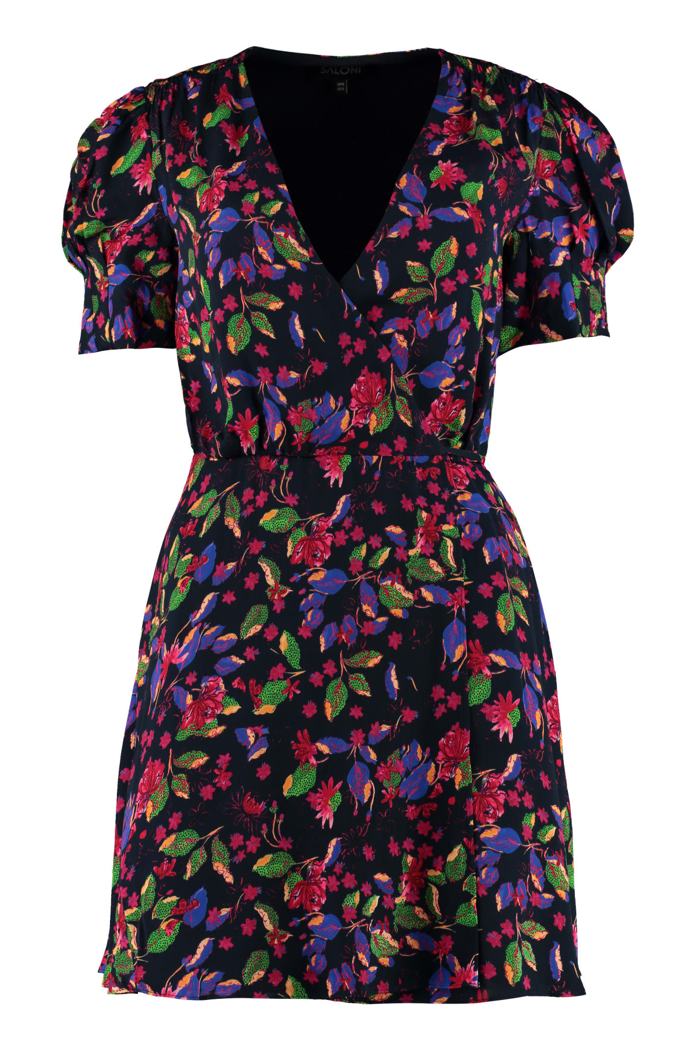 Buy Saloni Lea Floral Wrap-dress online, shop Saloni with free shipping