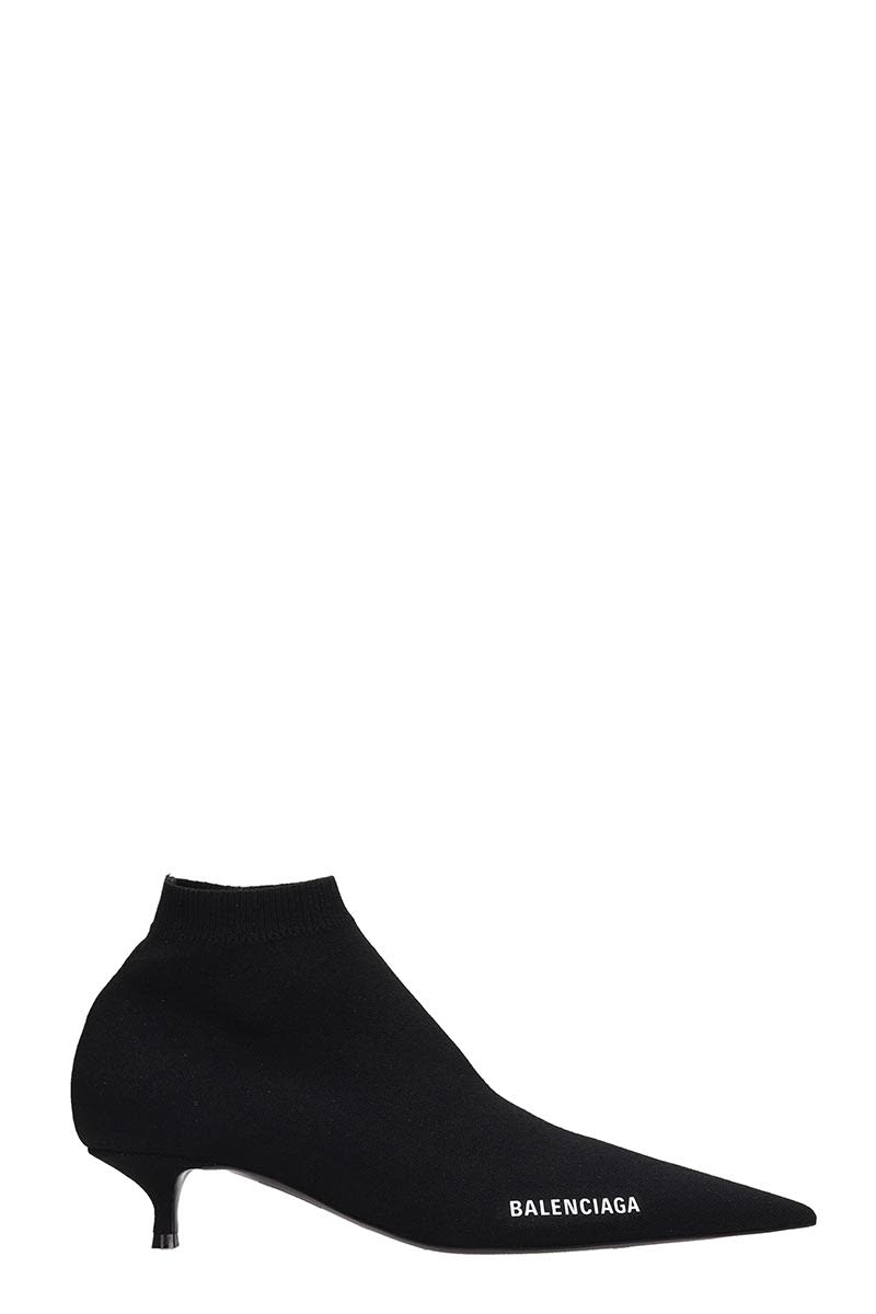 Balenciaga Low Heels Ankle Boots In Black Nylon