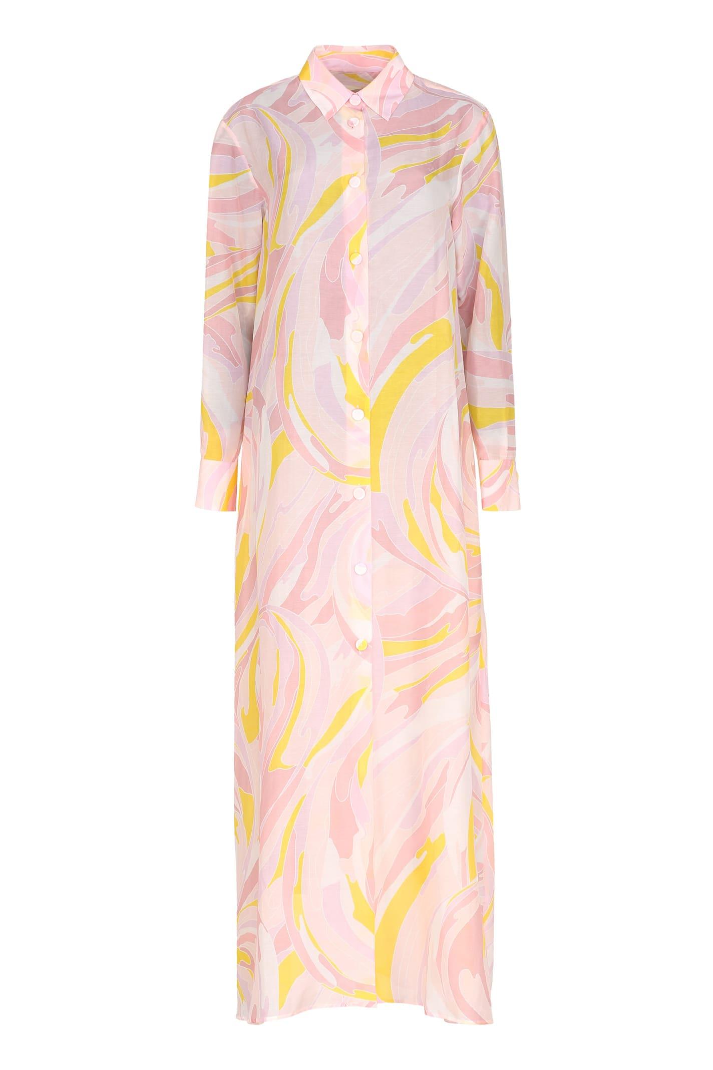 Emilio Pucci Cotton-silk Blend Dress
