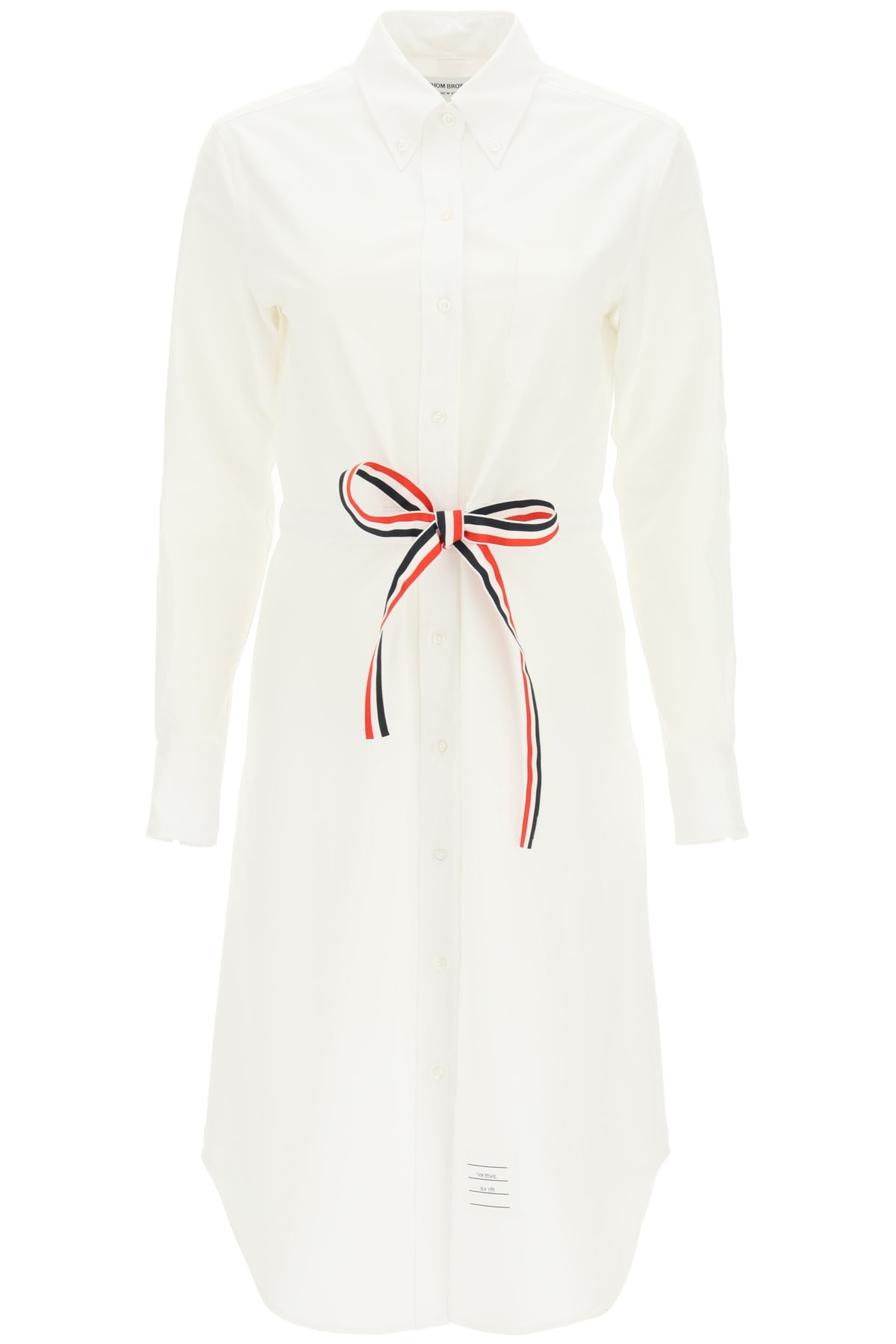Buy Thom Browne Belted Shirt Dress online, shop Thom Browne with free shipping