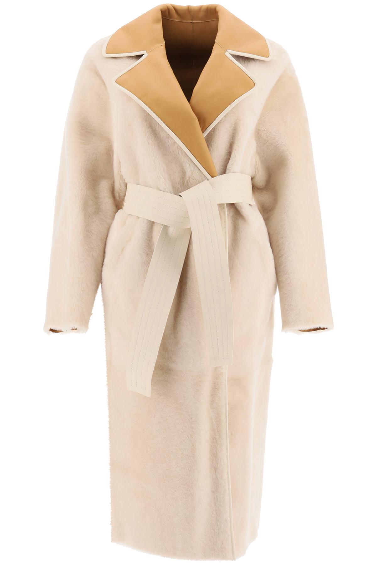 Two-tone Reversible Shearling Coat