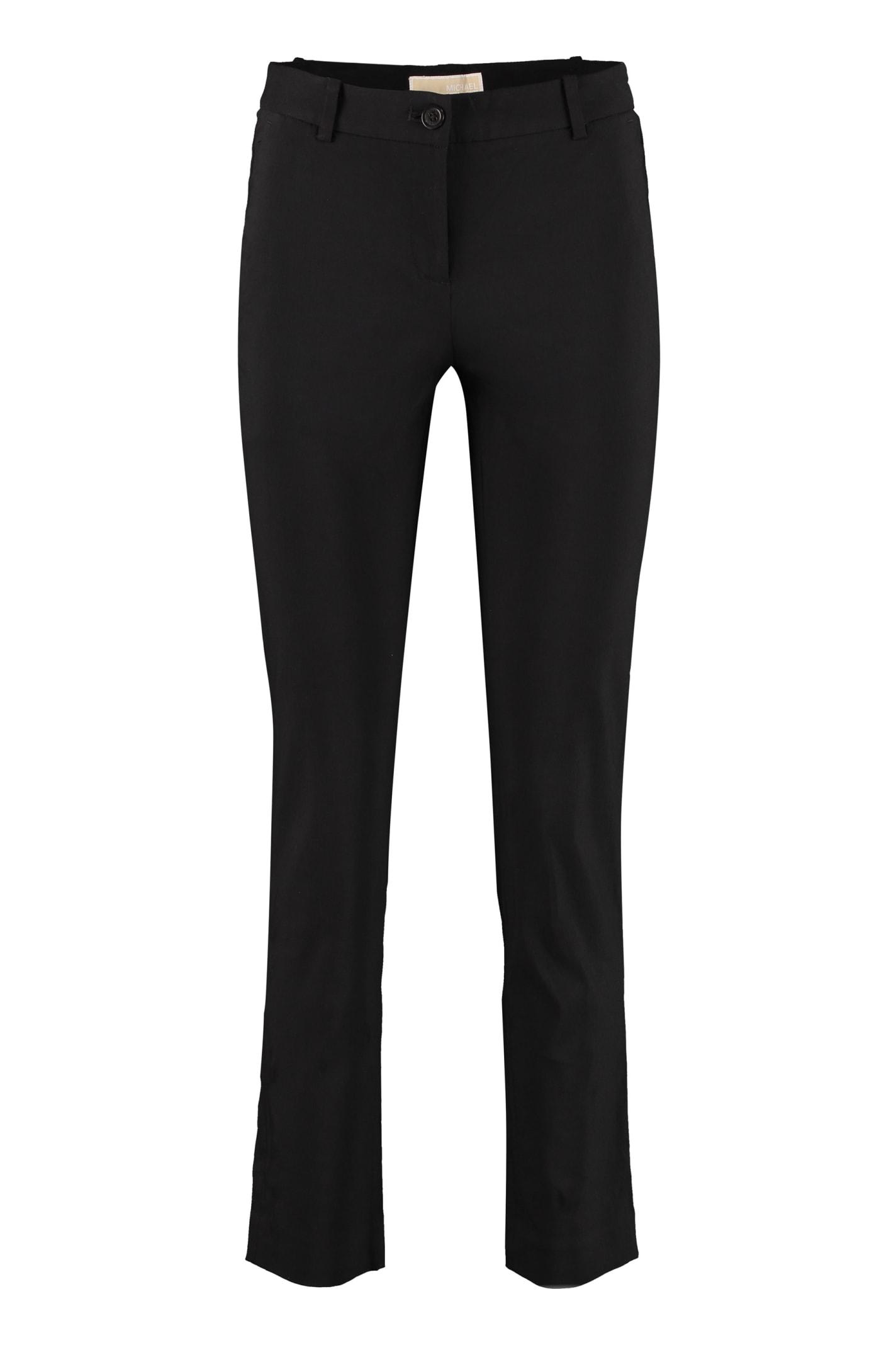 Michael Michael Kors Miranda Cropped Trousers In Black