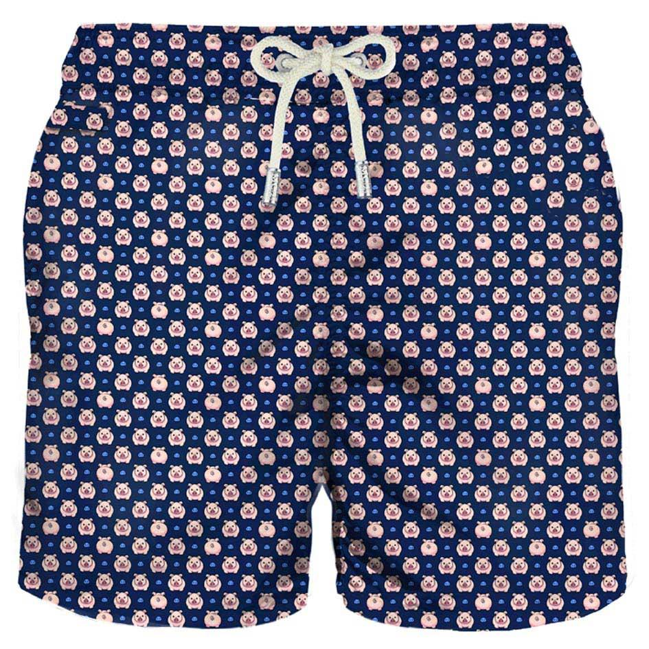 Piggy Micro Print Light Fabric Swim Shorts
