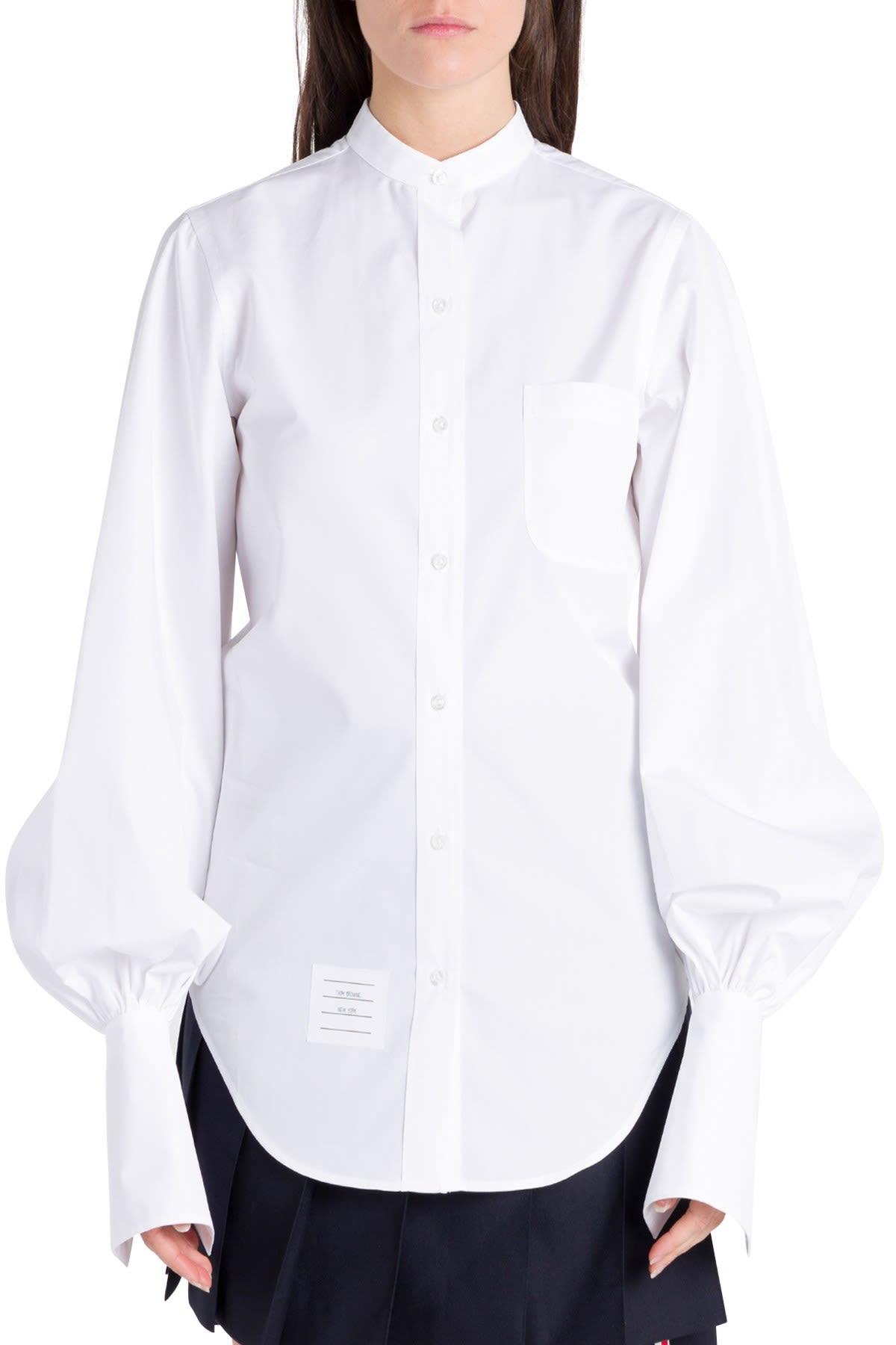 Thom Browne Gathered Sleeve Shirt