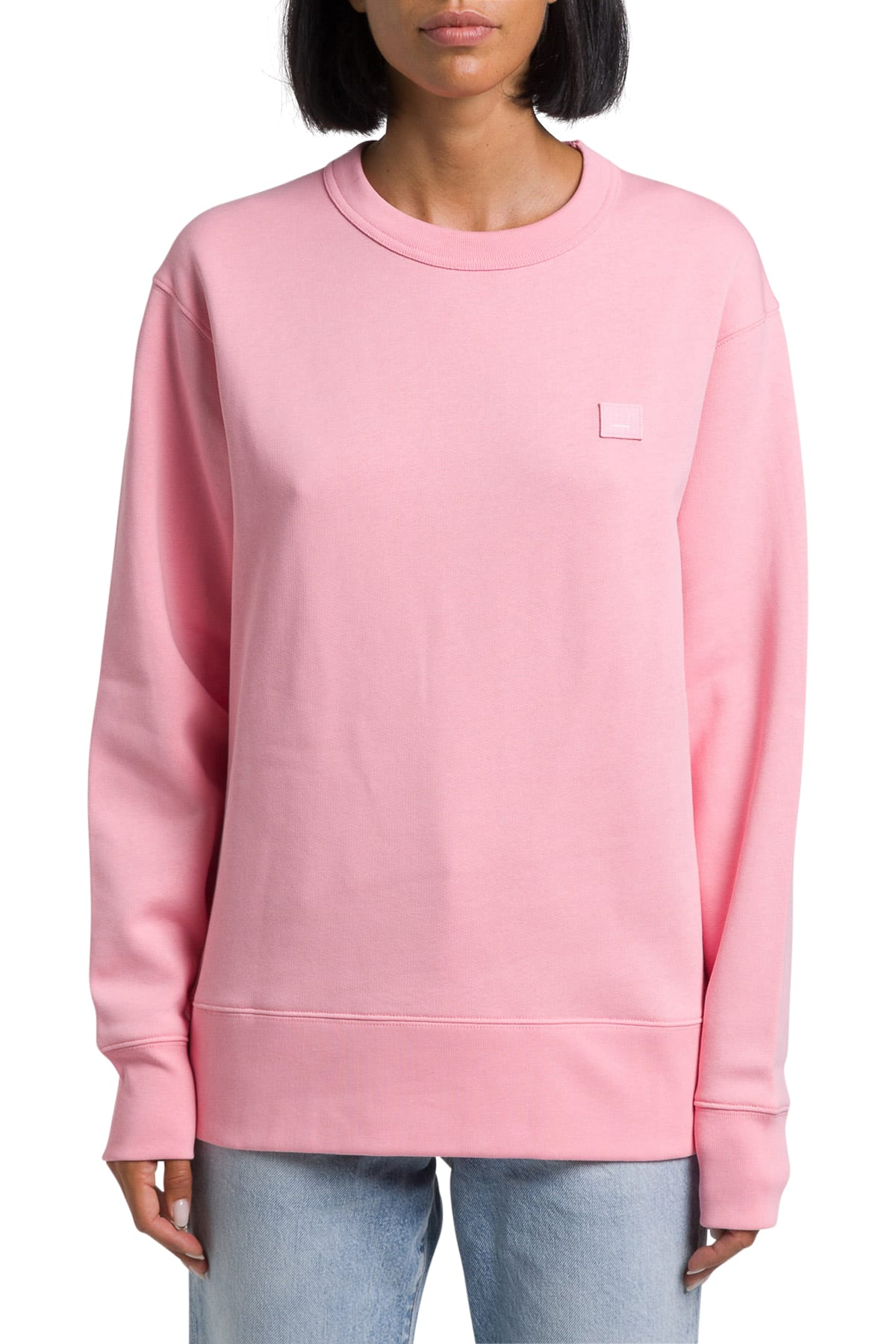 in vendita c16ef 9f2df Acne Studios Fairview Face Felpa Girocollo A Maniche Lunghe - Unisex  Regular Fit Brushed Fleece Long Sleeved Crew Neck Sweatshirt With  Embroidered Fac