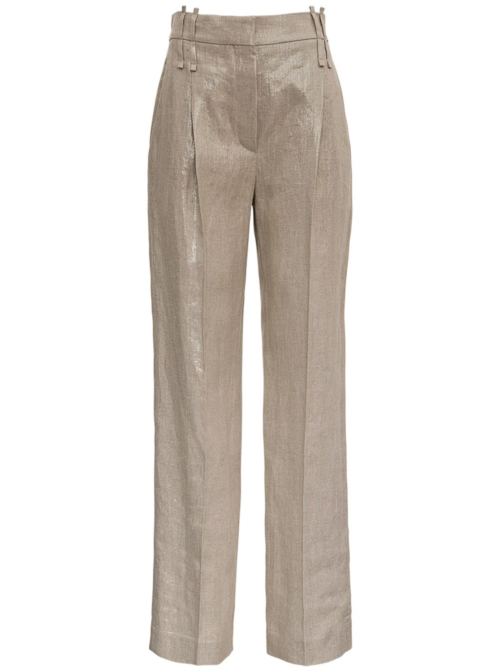 Brunello Cucinelli Pants TAILORED PANTS IN SHINY LINEN